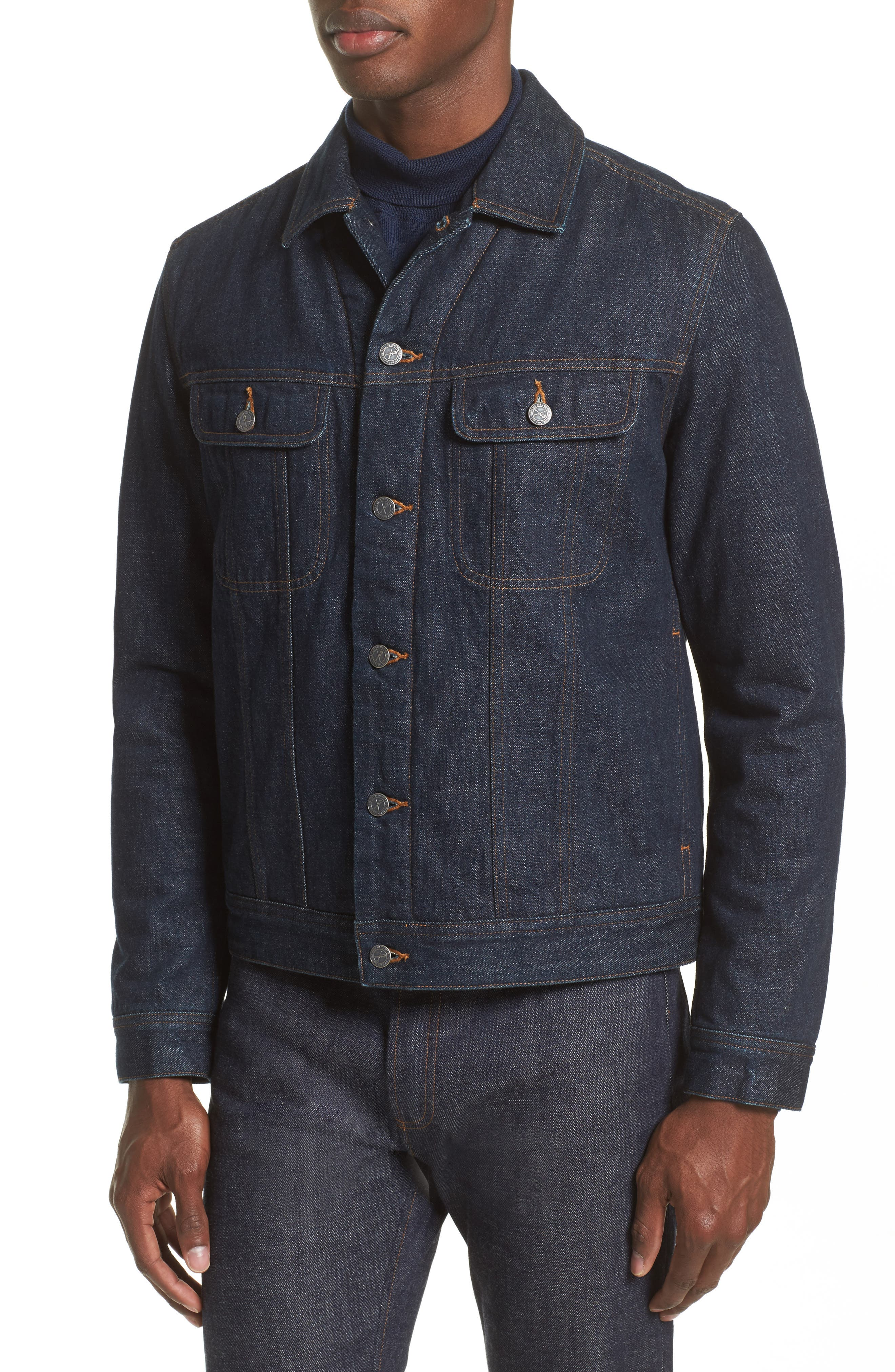 Denim Shirt Jacket,                             Alternate thumbnail 4, color,                             Indigo