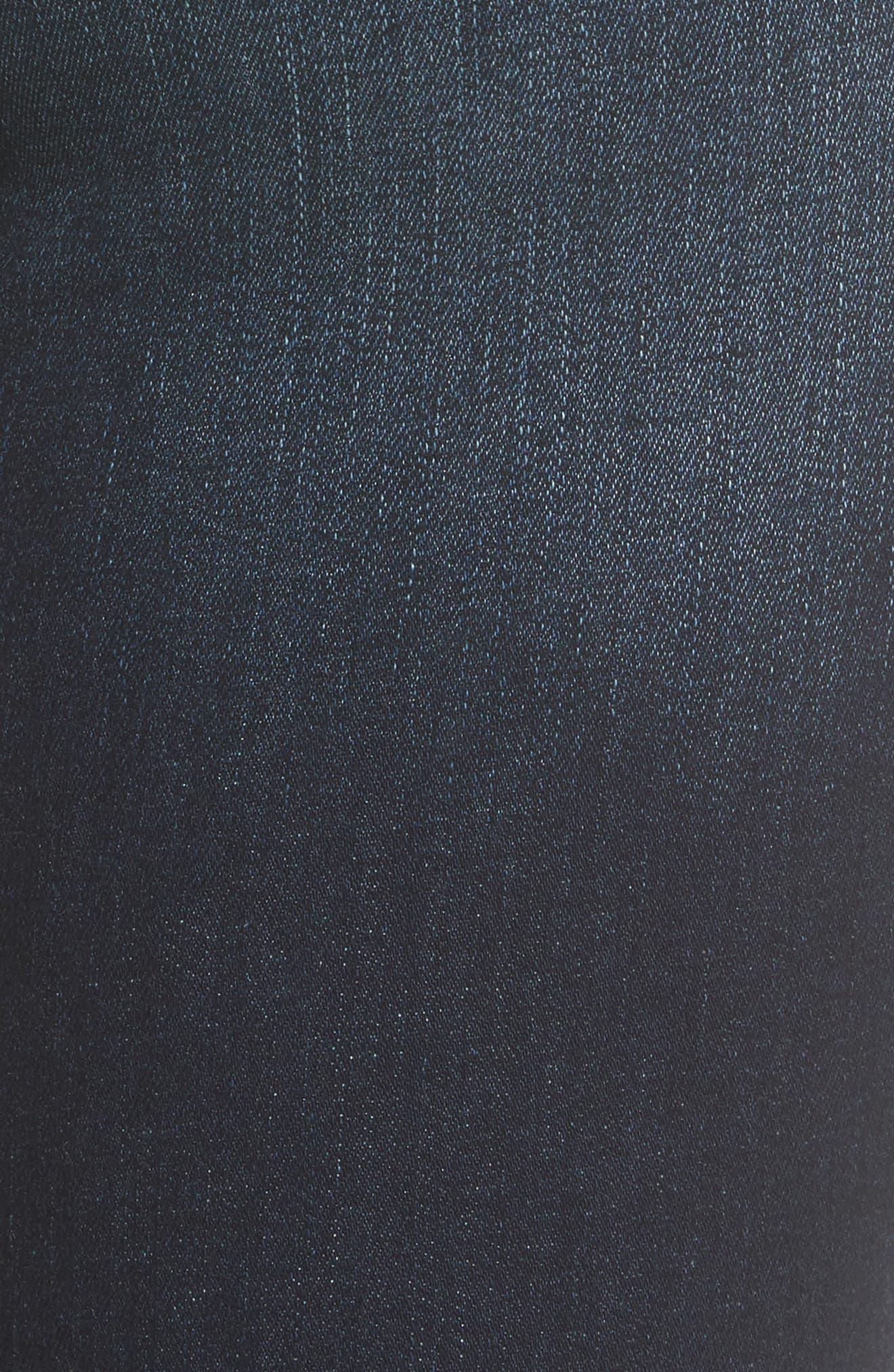 Chrissy High Waist Crop Skinny Jeans,                             Alternate thumbnail 5, color,                             Trinity