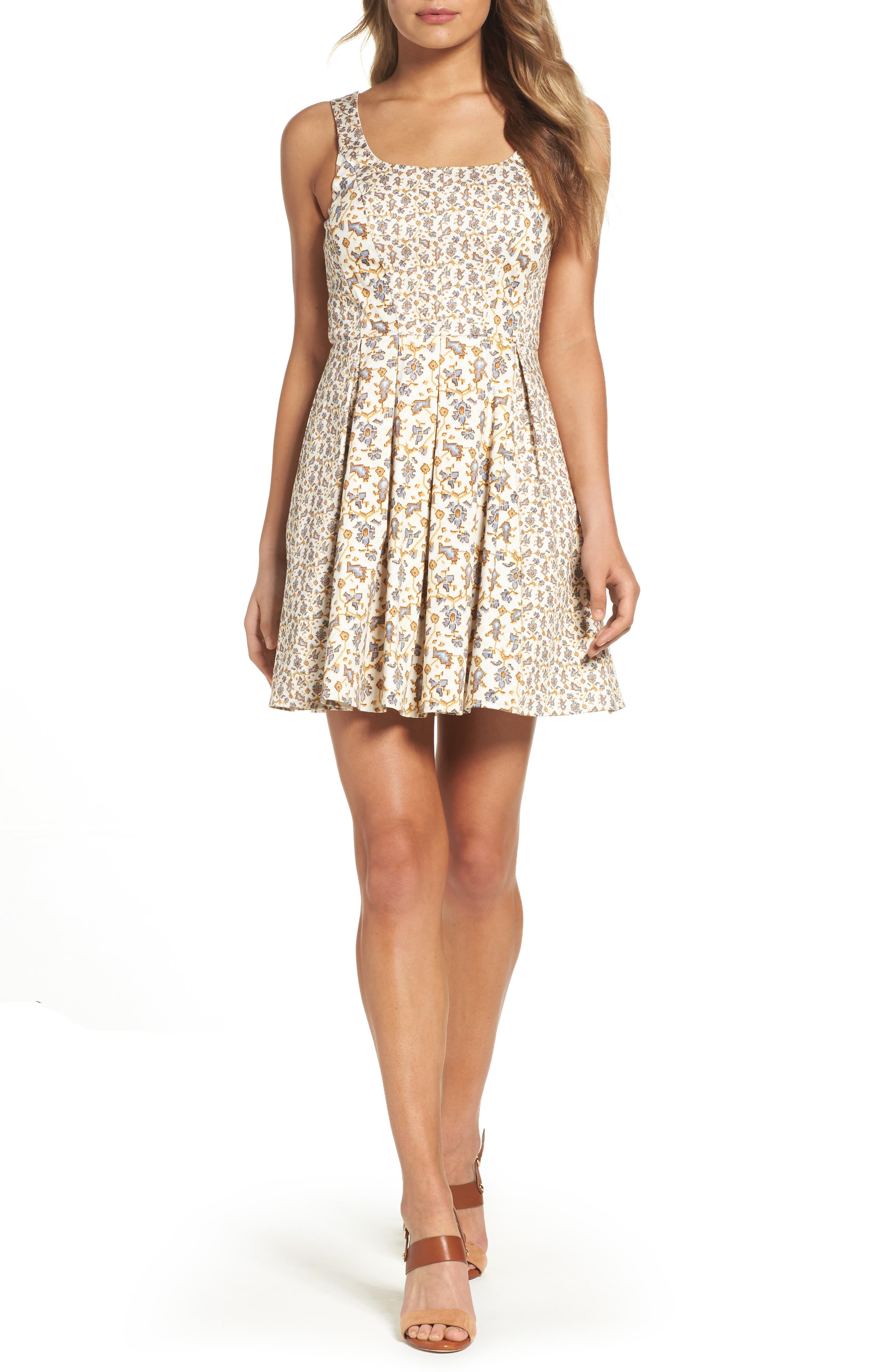 Main Image - French Connection Niko Fit & Flare Dress