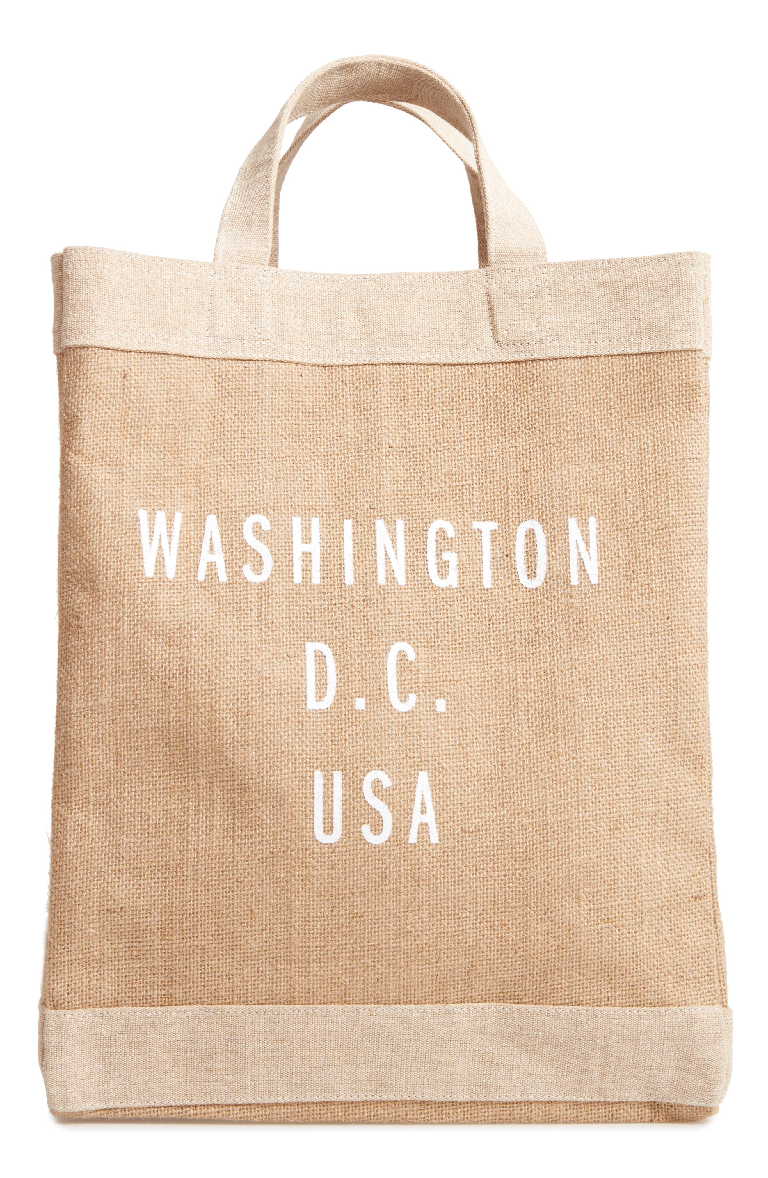 APOLIS WASHINGTON D.C. SIMPLE MARKET BAG - BROWN