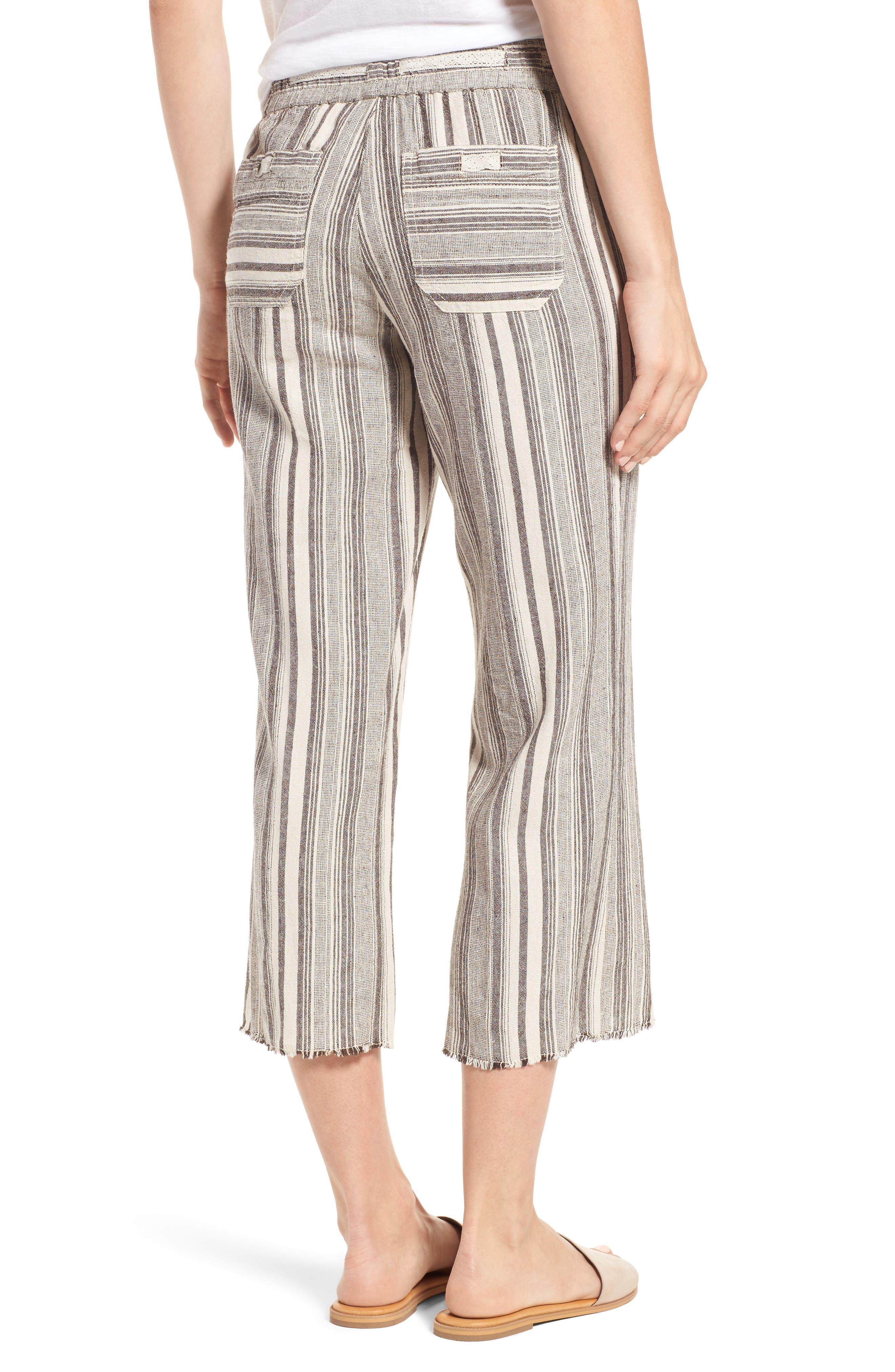 Alternate Image 2  - Wit & Wisdom Drawstring Stripe Crop Sailor Pants (Nordstrom Exclusive) (Regular & Petite)