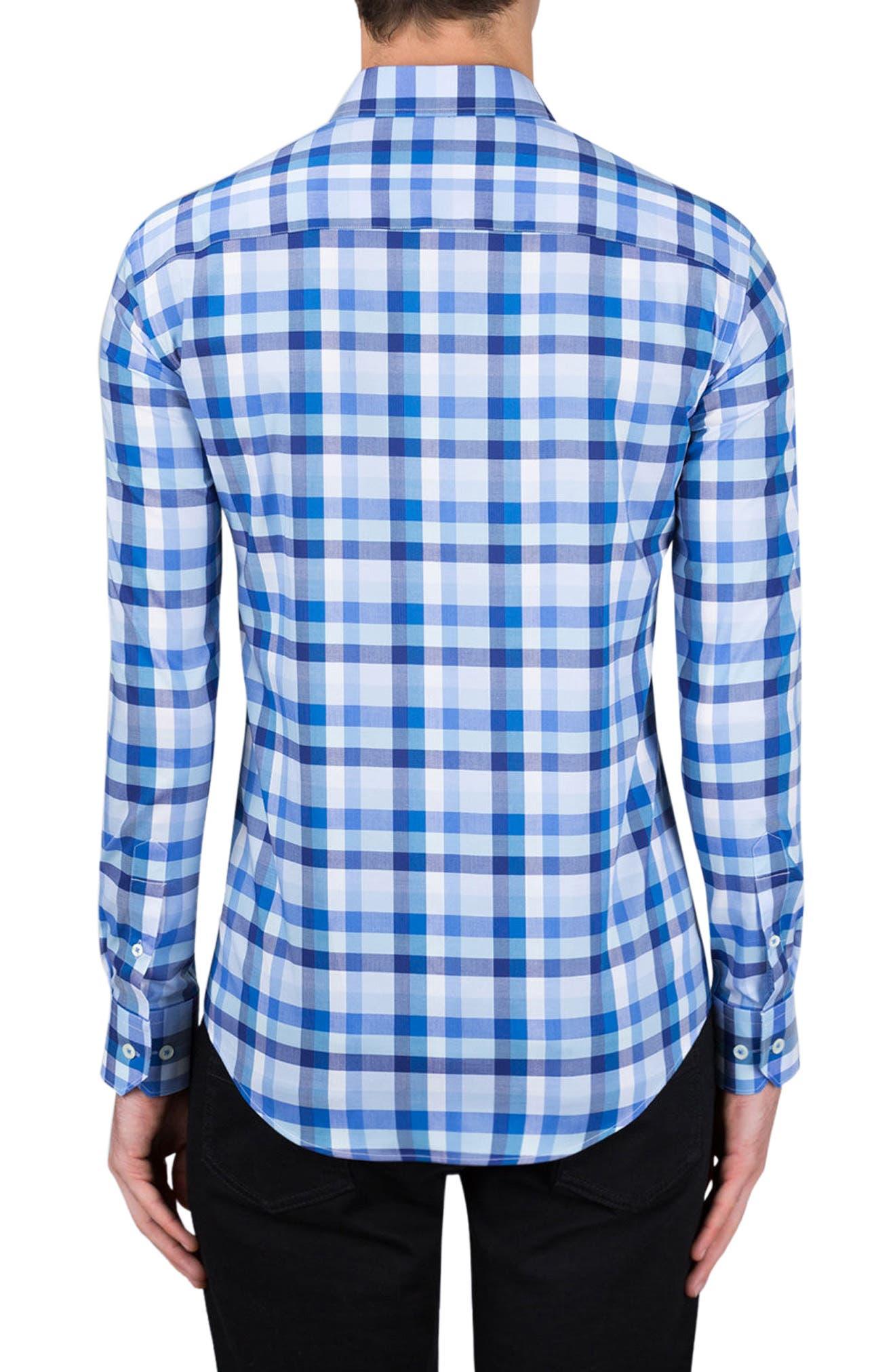 Alternate Image 2  - Bugatchi Classic Fit Check Sport Shirt