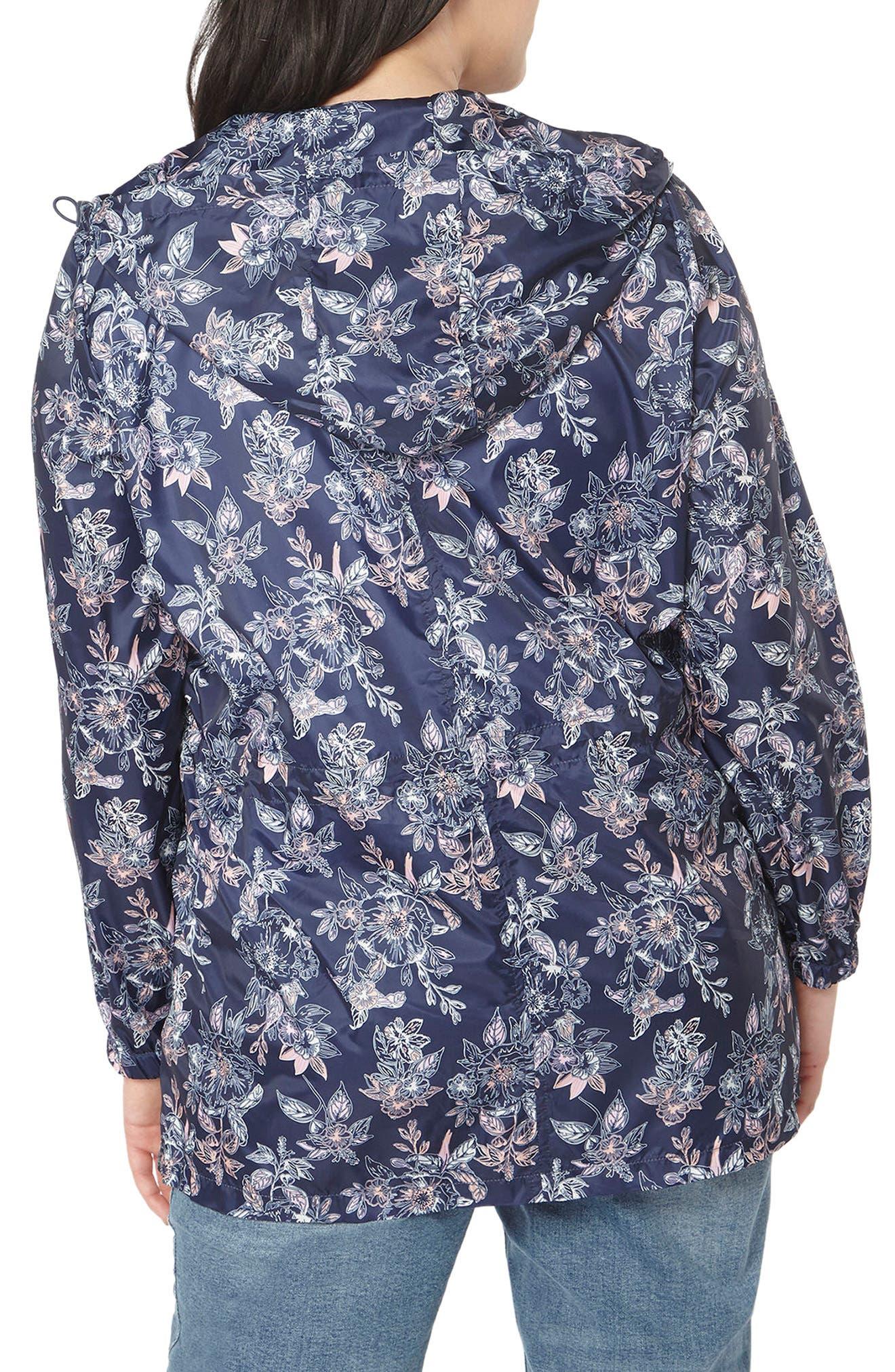 Alternate Image 2  - Evans Floral Print Rain Jacket