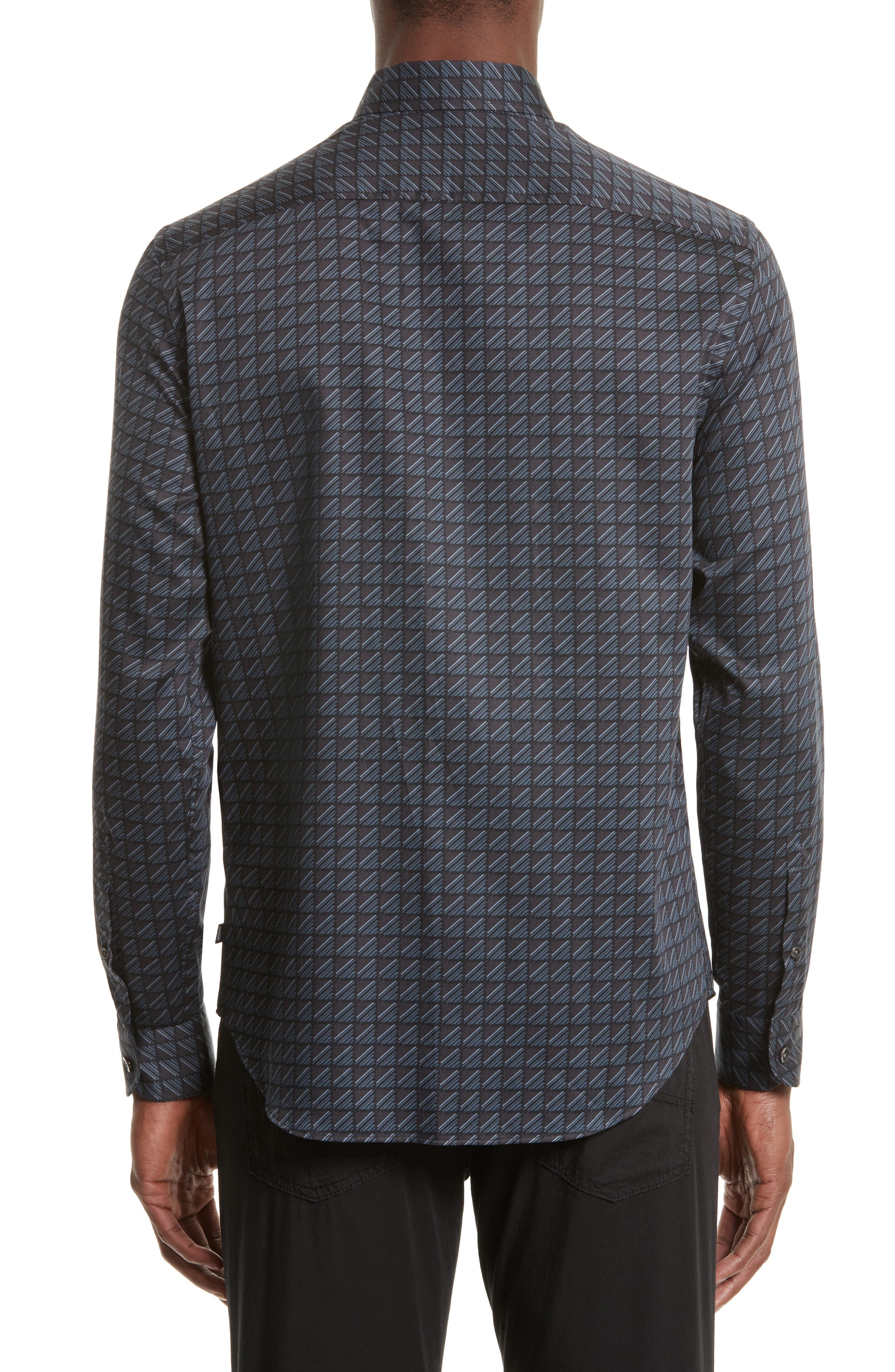 Alternate Image 2  - Armani Collezioni Regular Fit Geo Print Sport Shirt