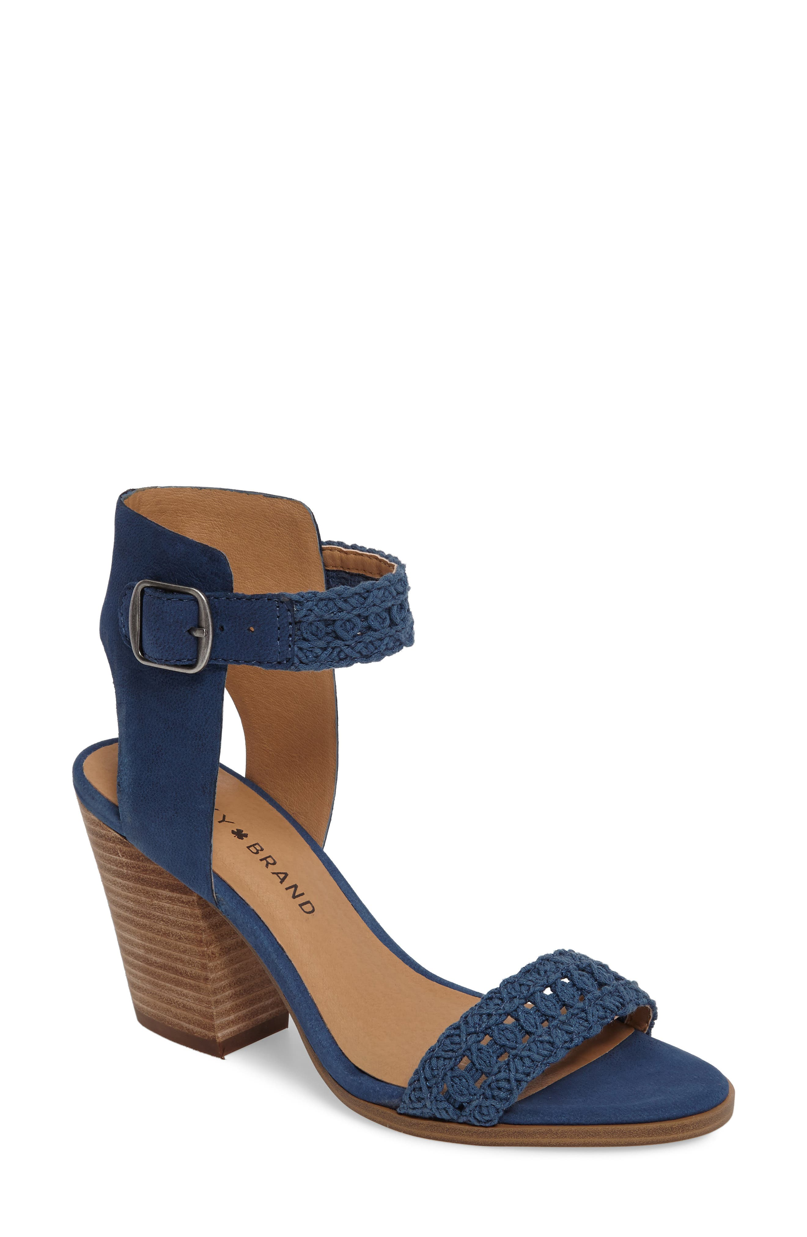Main Image - Lucky Brand Oakes Ankle Strap Sandal (Women)