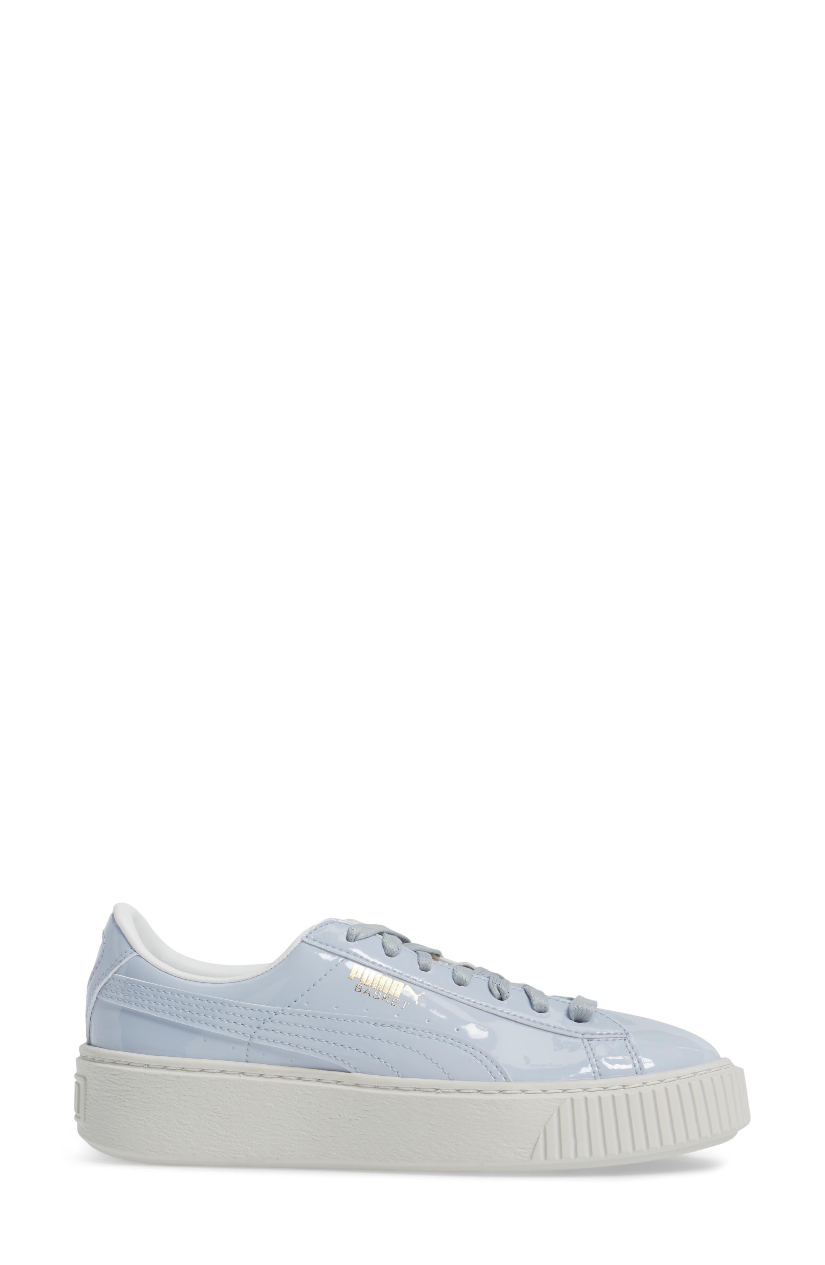 Basket Platform Sneaker,                             Alternate thumbnail 3, color,                             Halogen Blue/ Halogen Blue