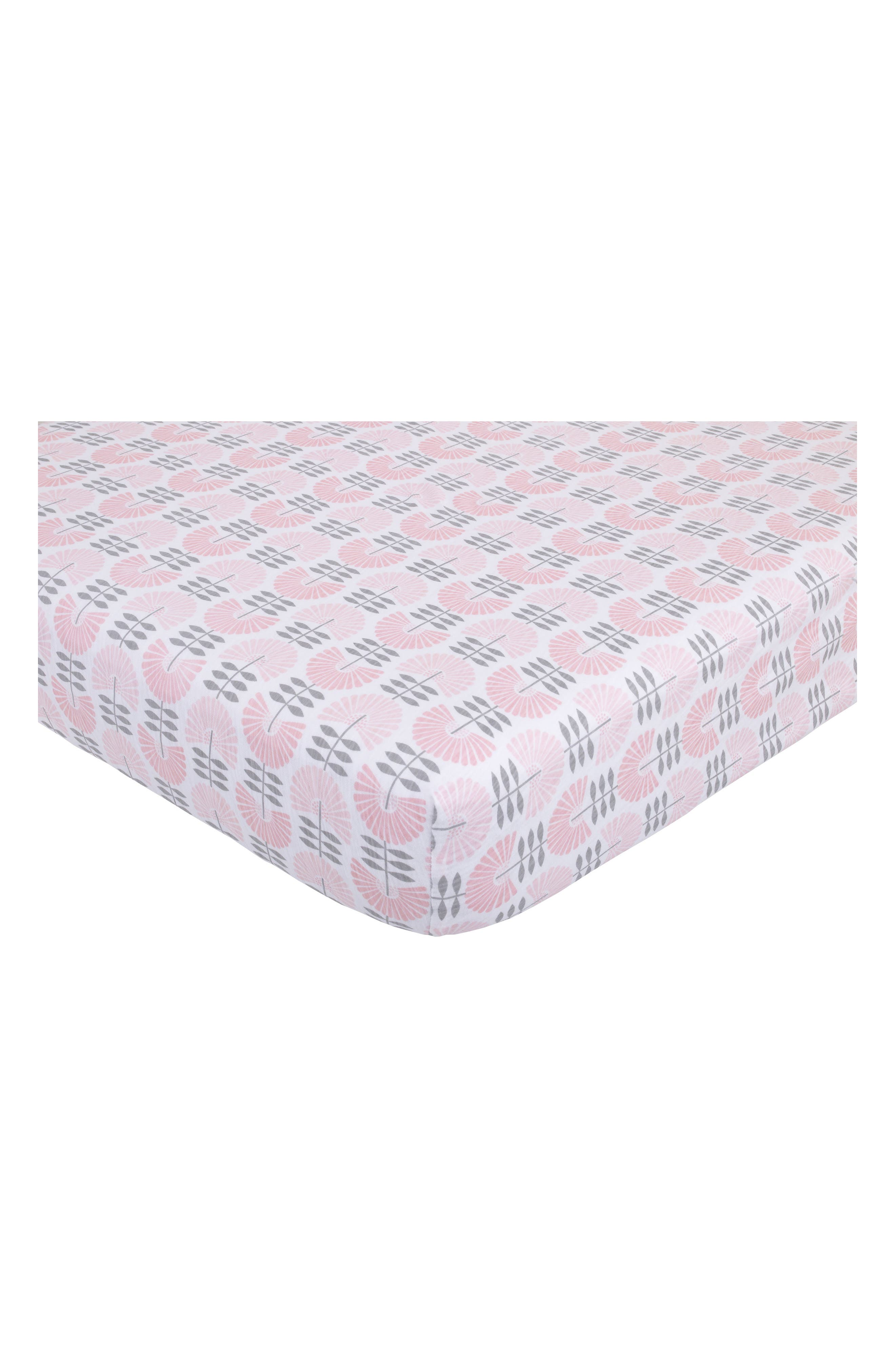 Southwest Skies Fitted Sheet,                             Main thumbnail 1, color,                             Light Pink