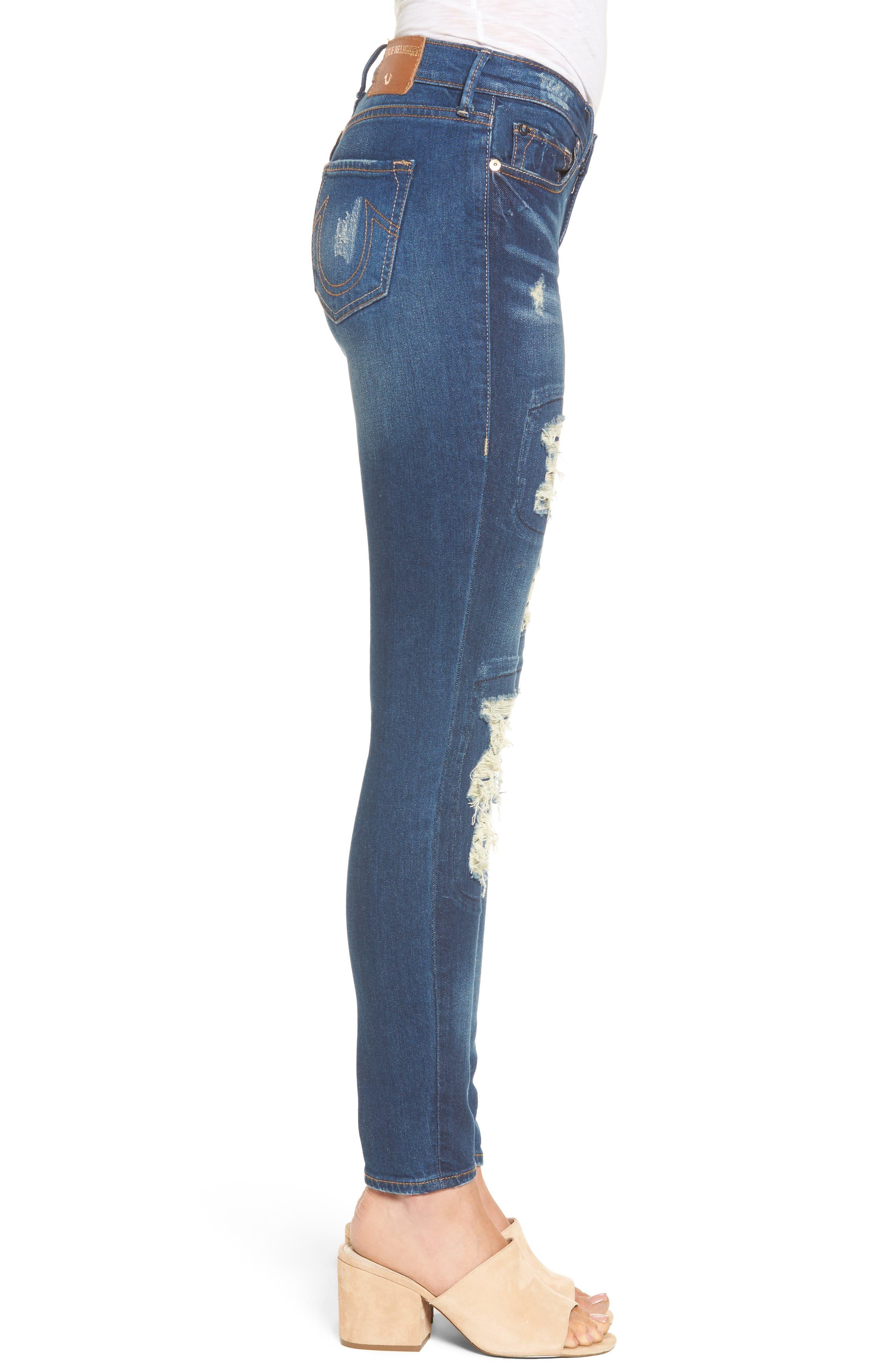 Alternate Image 3  - True Religion Brand Jeans Halle Super Skinny Jeans (Indigo Cadence)