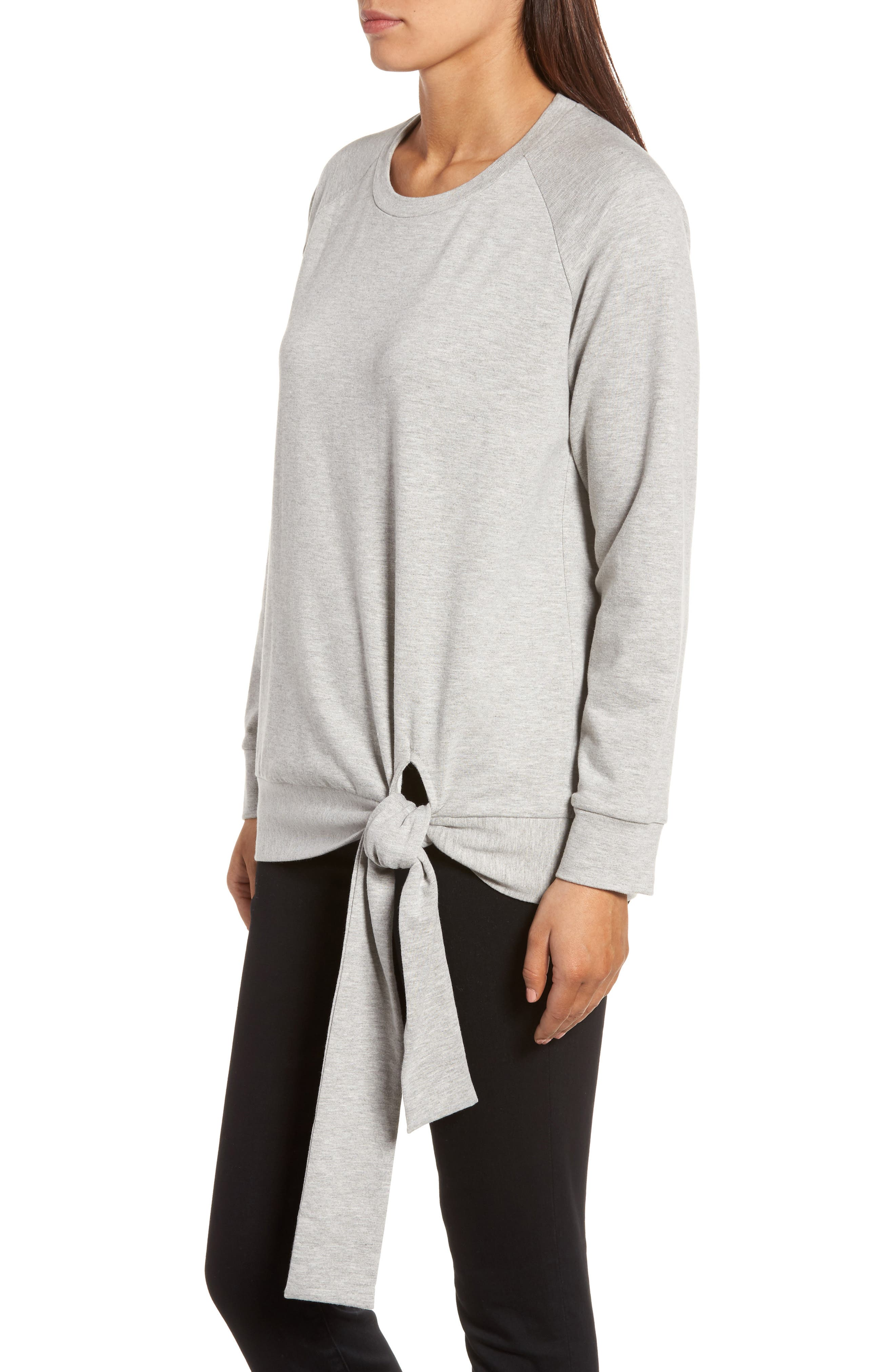 Alternate Image 3  - Caslon® Tie Knot Sweatshirt (Regular & Petite)