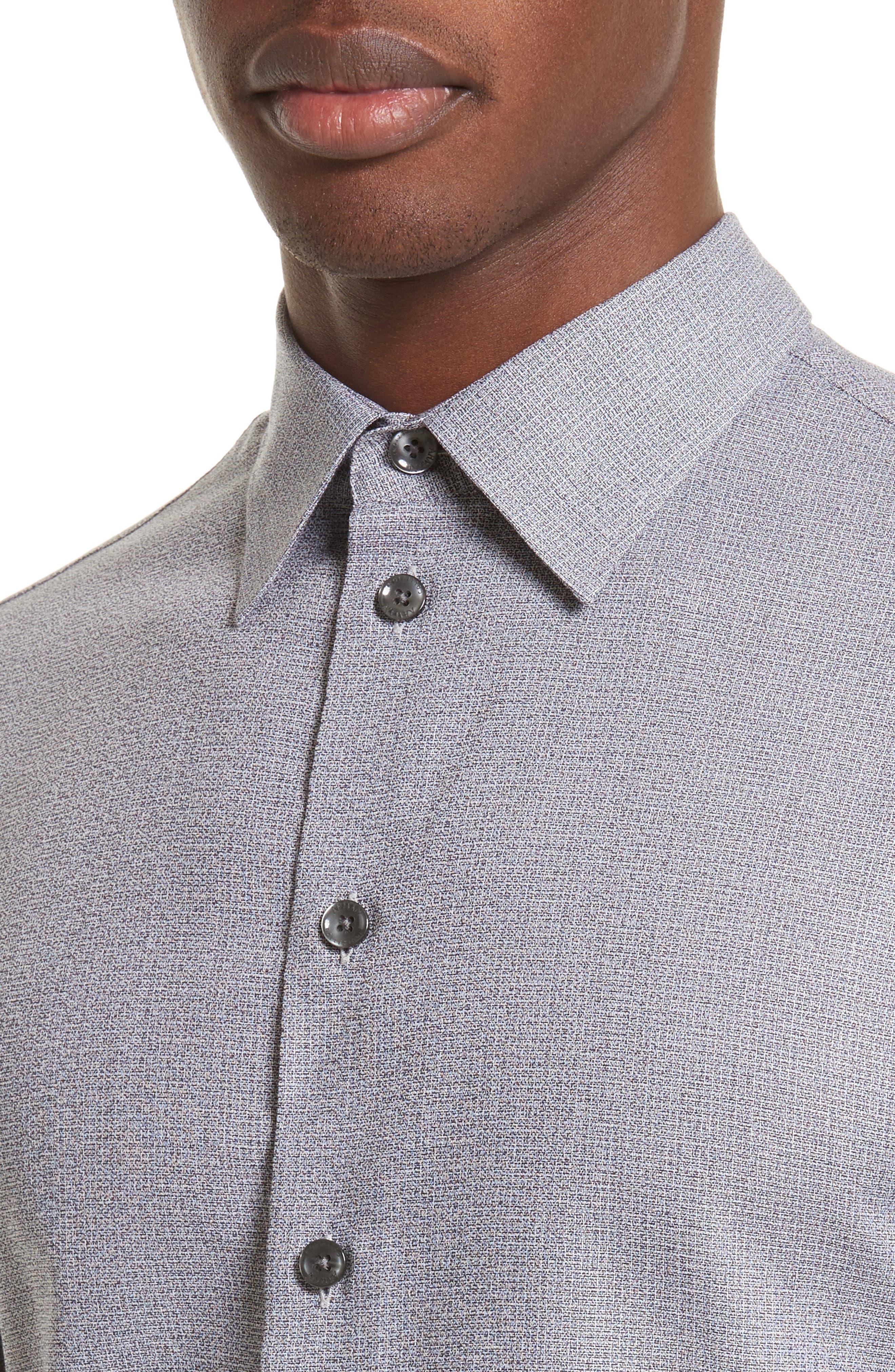 Alternate Image 4  - Armani Collezioni Textured Sport Shirt
