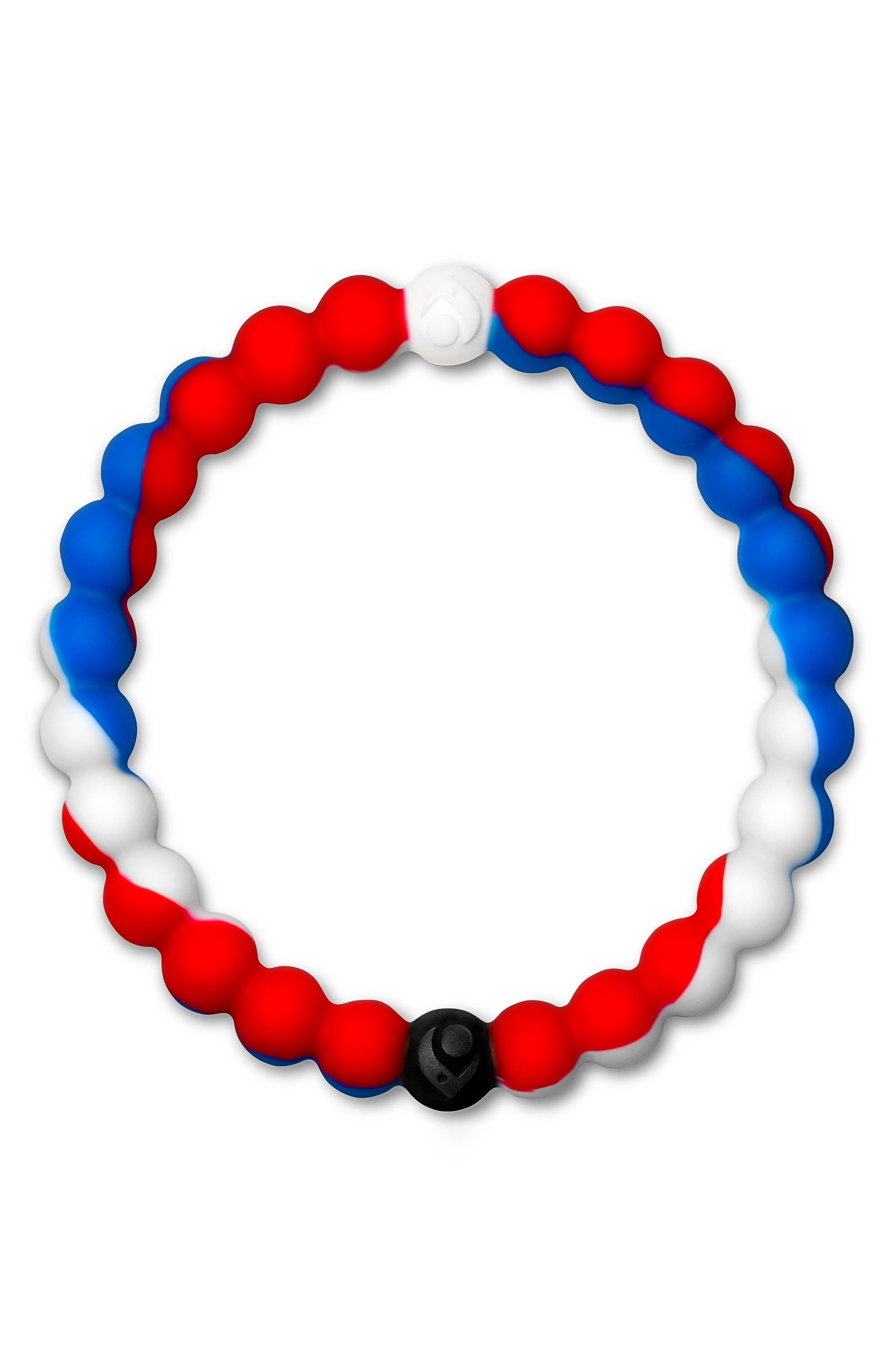 Wear Your World Bracelet,                         Main,                         color, Red White And Blue
