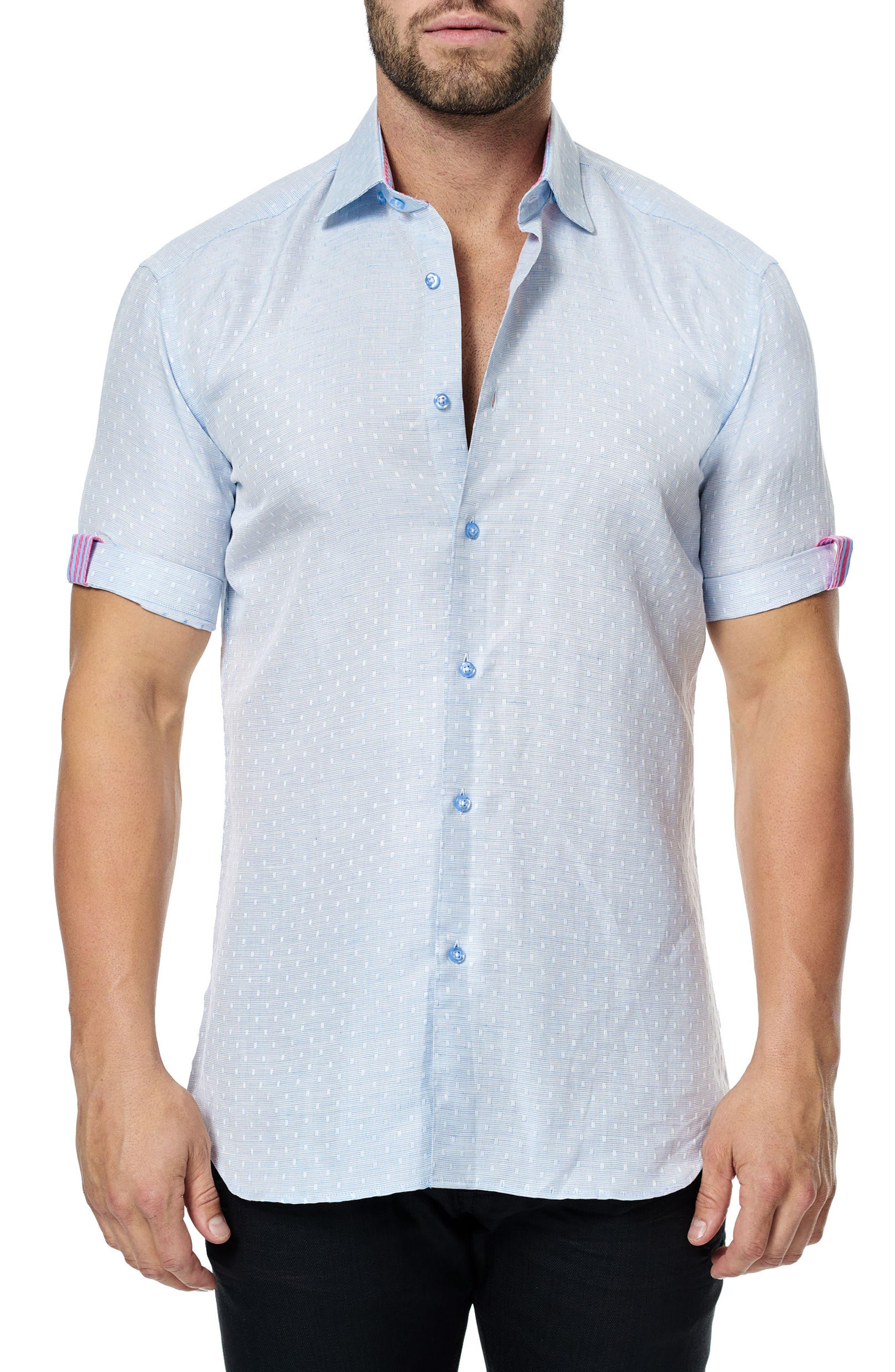 Alternate Image 1 Selected - Maceoo Fresh Jacquard Sport Shirt