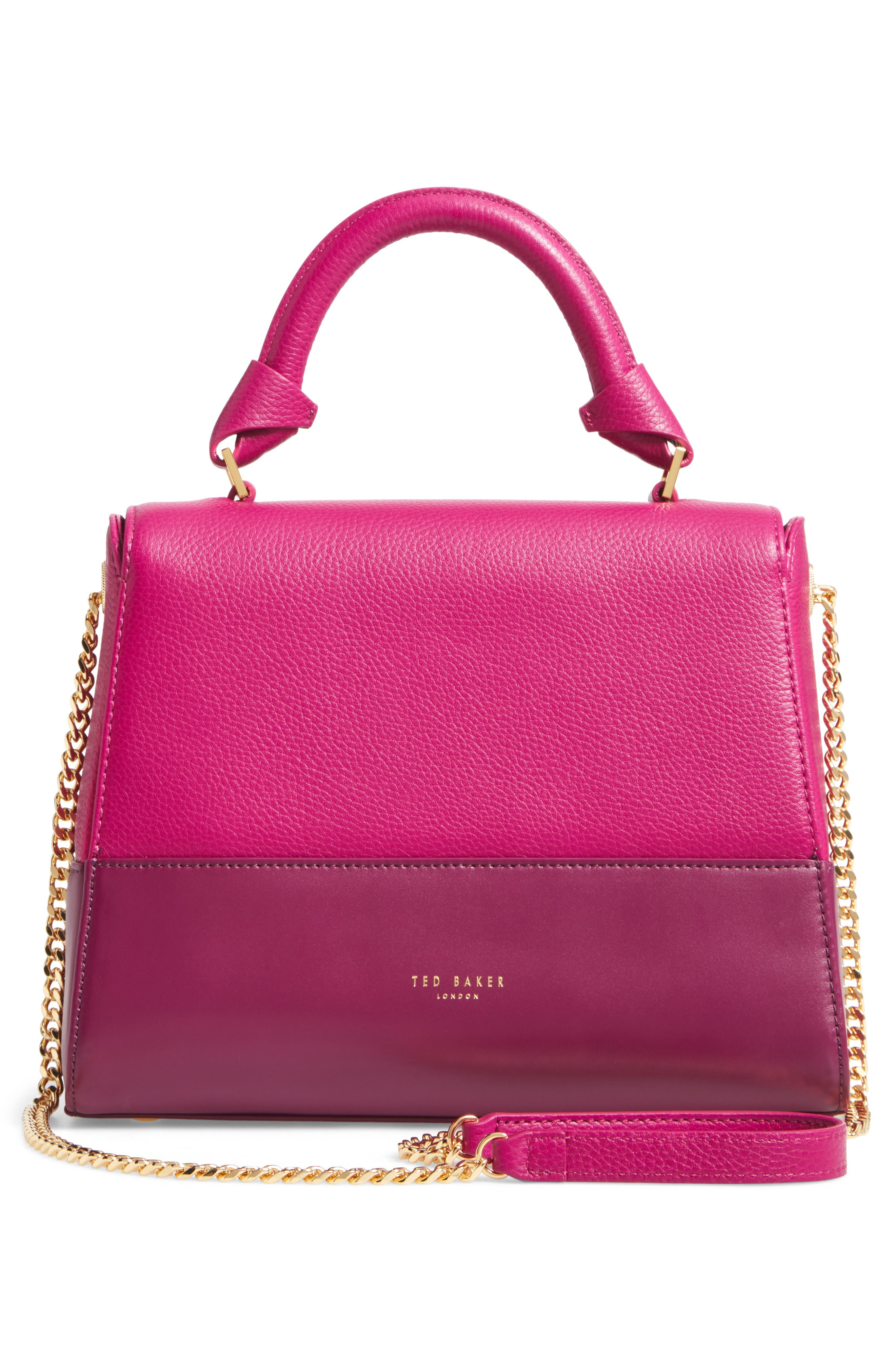 Shirley Leather Crossbody Bag,                             Alternate thumbnail 2, color,                             Bright Pink
