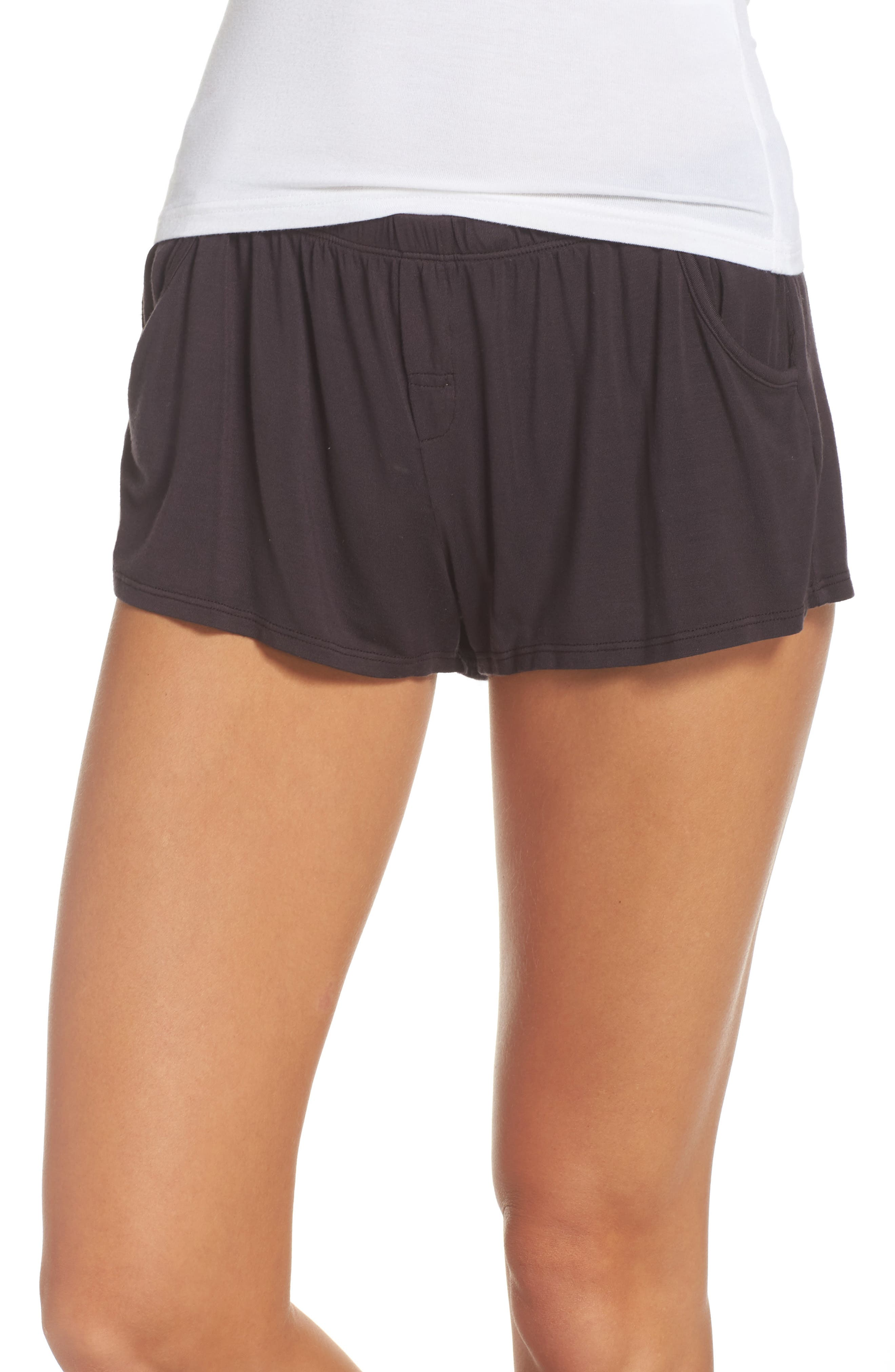 Tammy Lounge Shorts,                         Main,                         color, Grease
