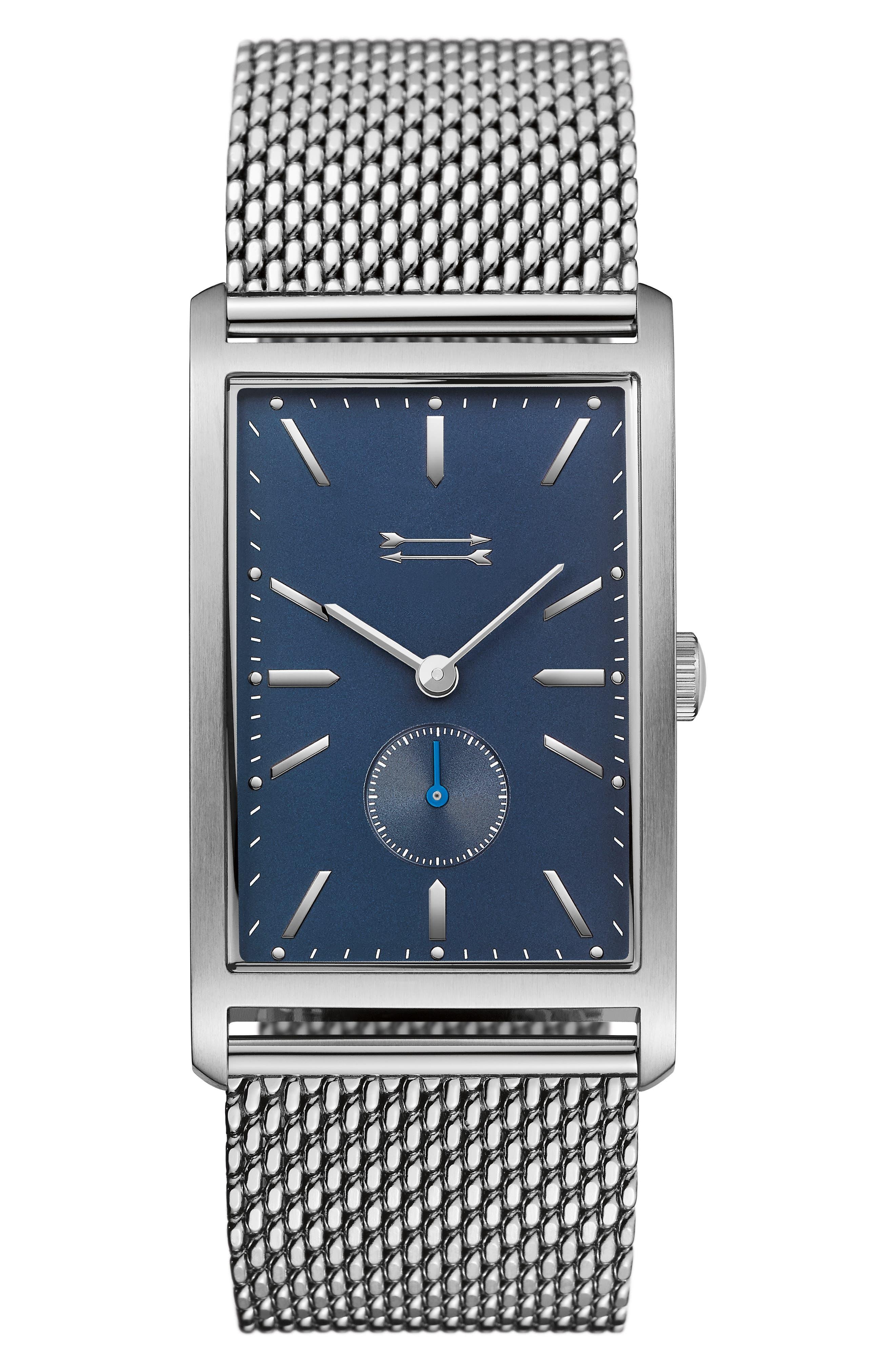 URI MINKOFF Pesaro Mesh Strap Watch, 27mm