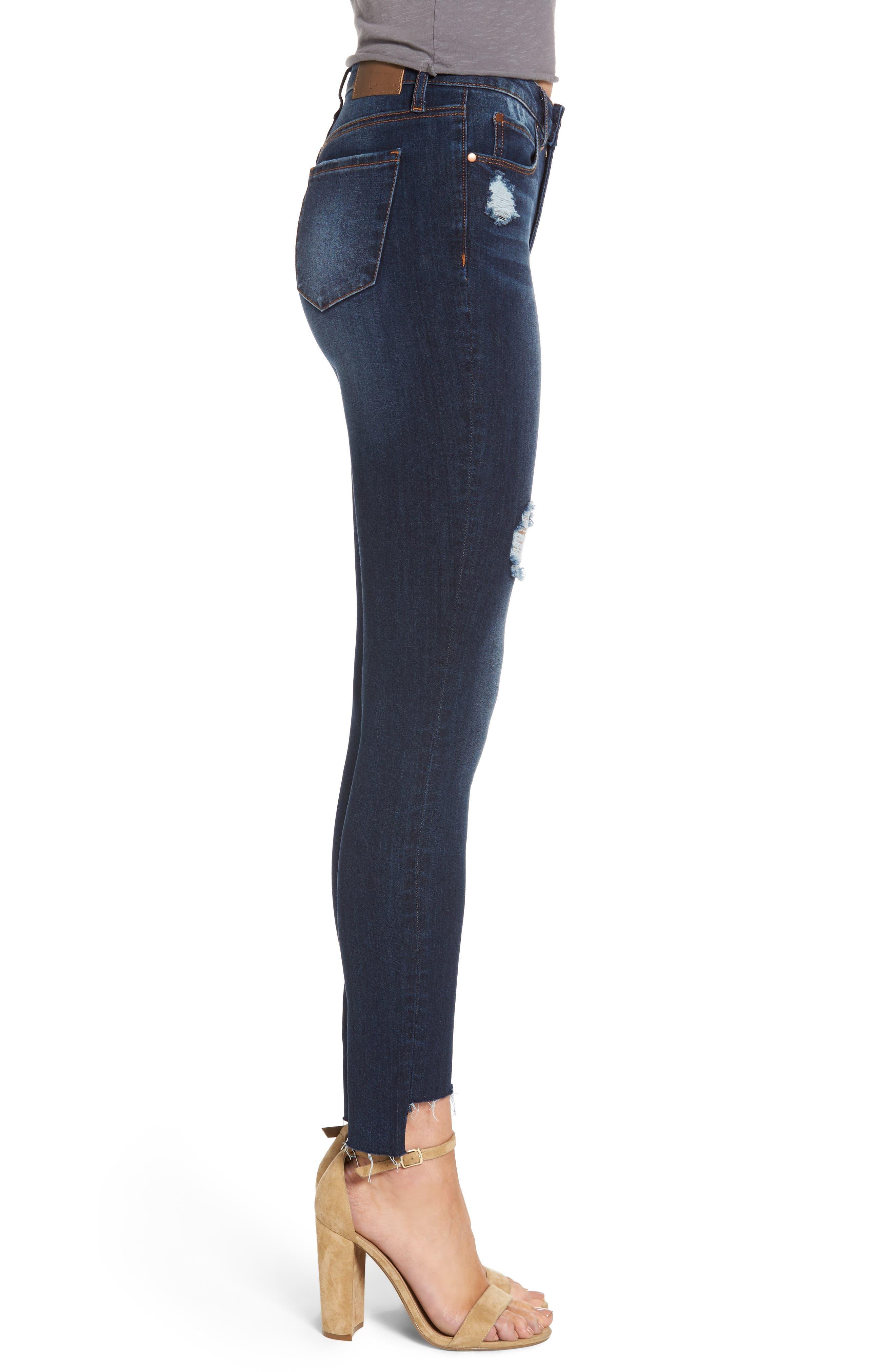 Alternate Image 3  - Leith Ripped Step Hem Skinny Jeans (Destroy Medium)