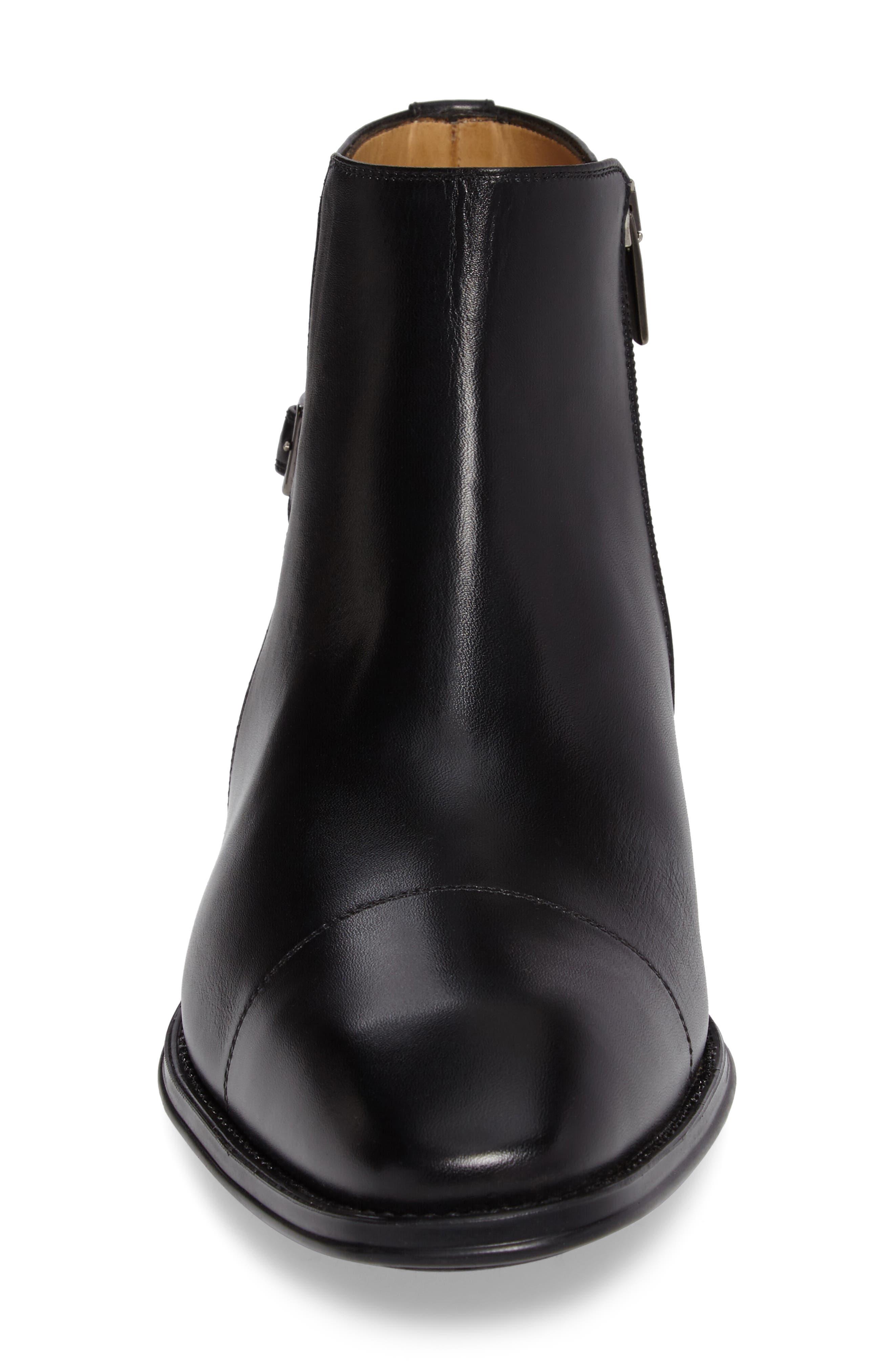 Casares II Zip Boot,                             Alternate thumbnail 4, color,                             Black