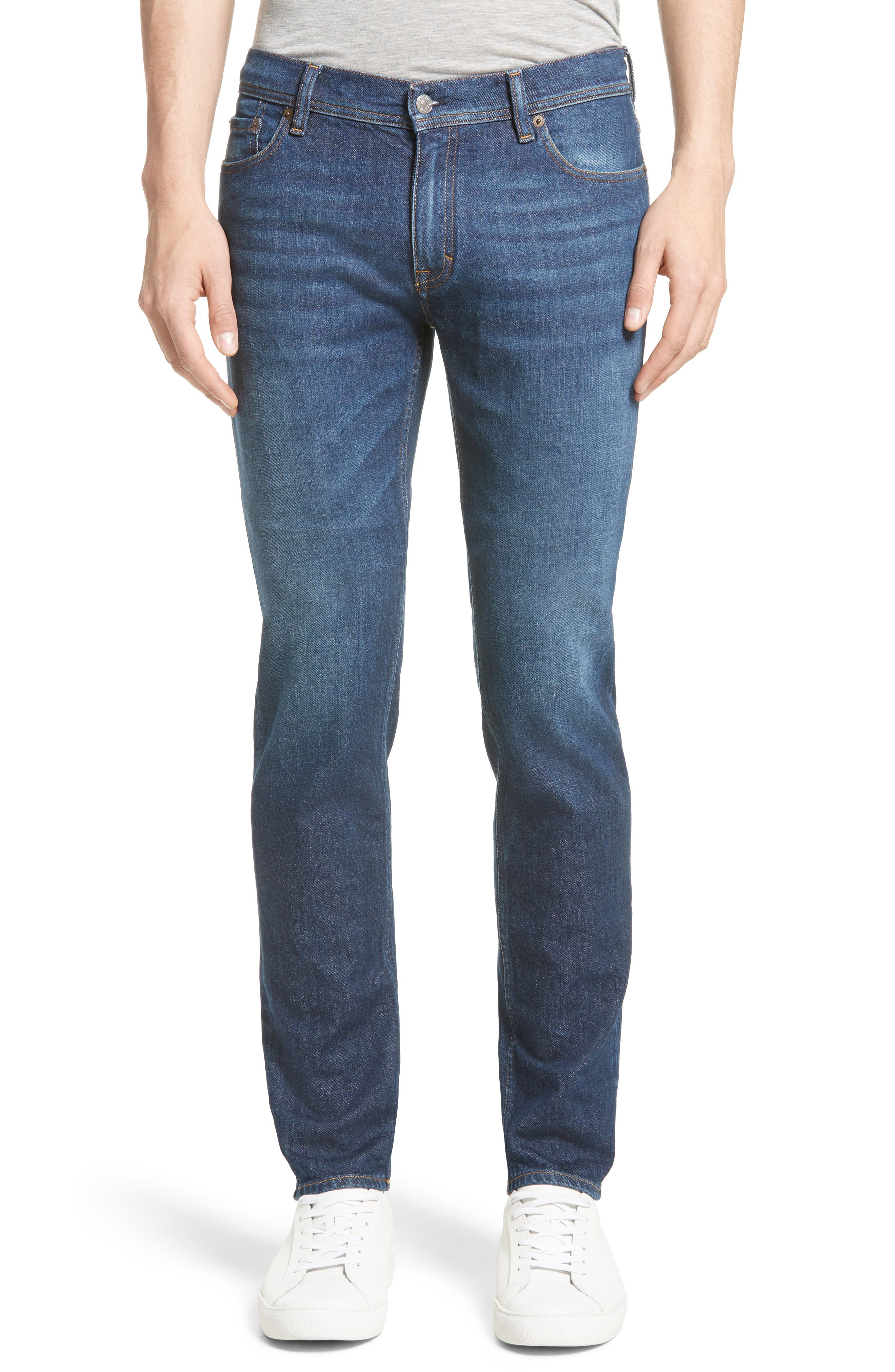 North Skinny Jeans,                         Main,                         color, Dark Blue