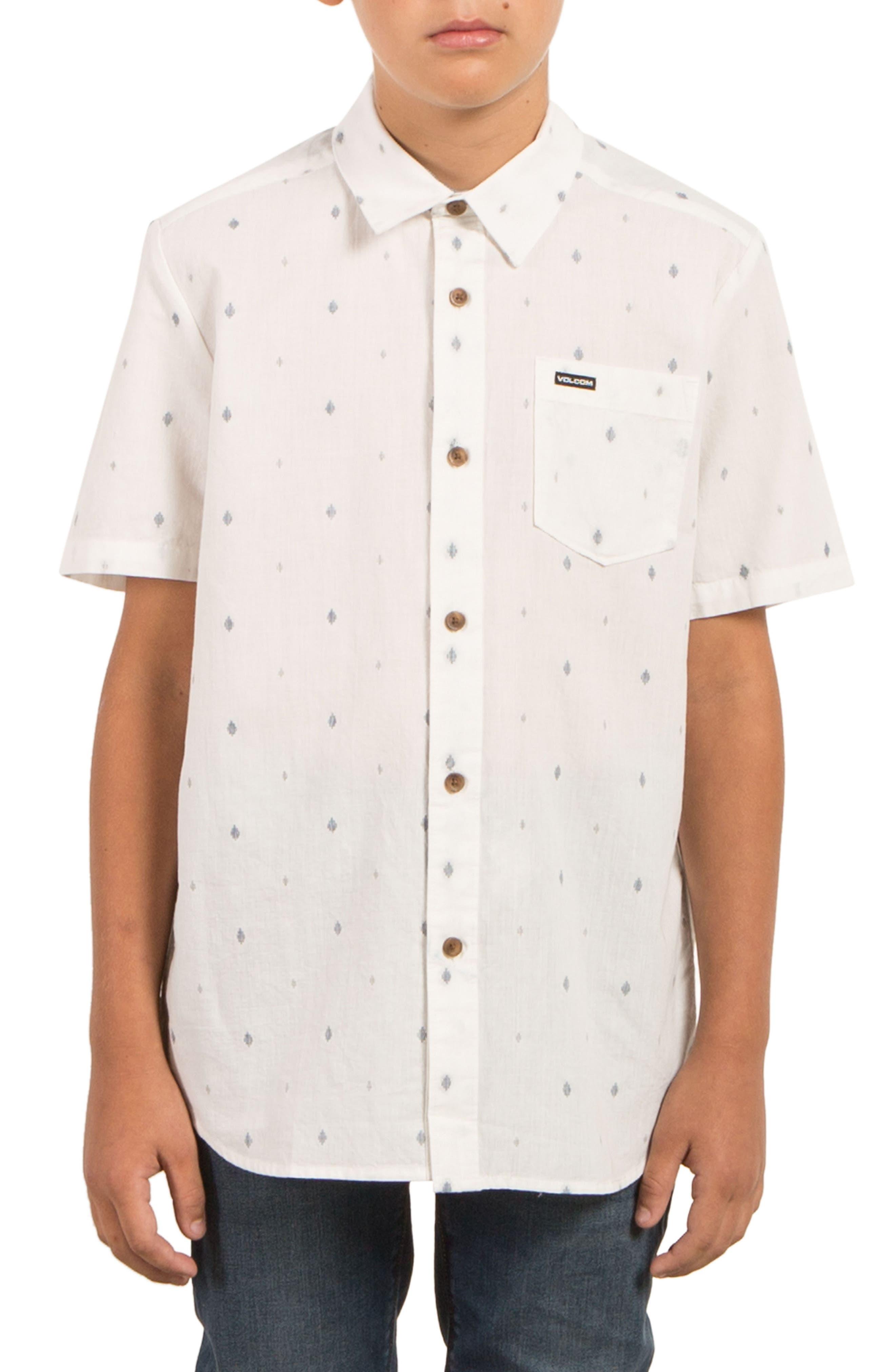 Interlude Print Woven Shirt,                             Main thumbnail 1, color,                             Cloud