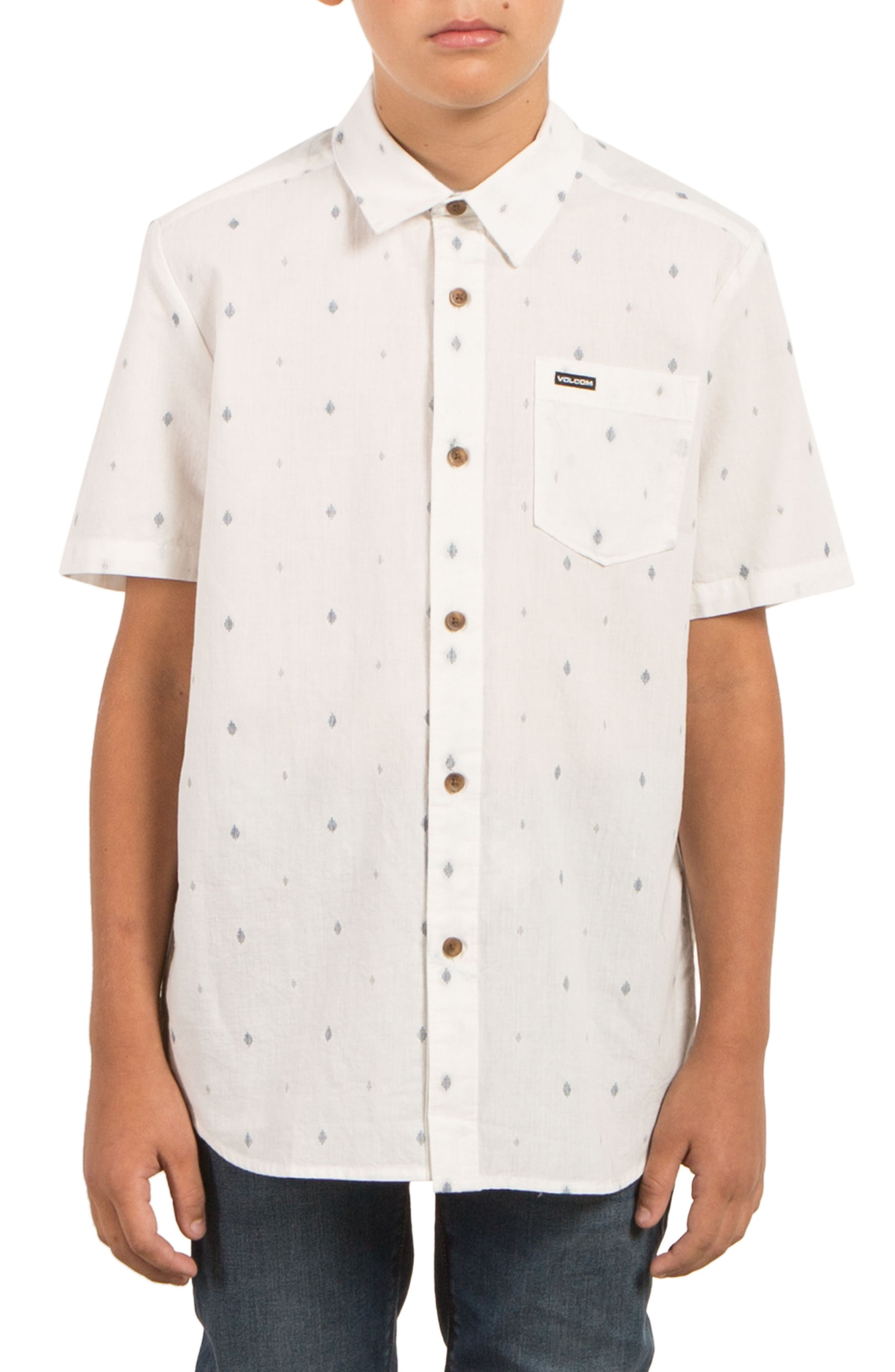 Interlude Print Woven Shirt,                         Main,                         color, Cloud