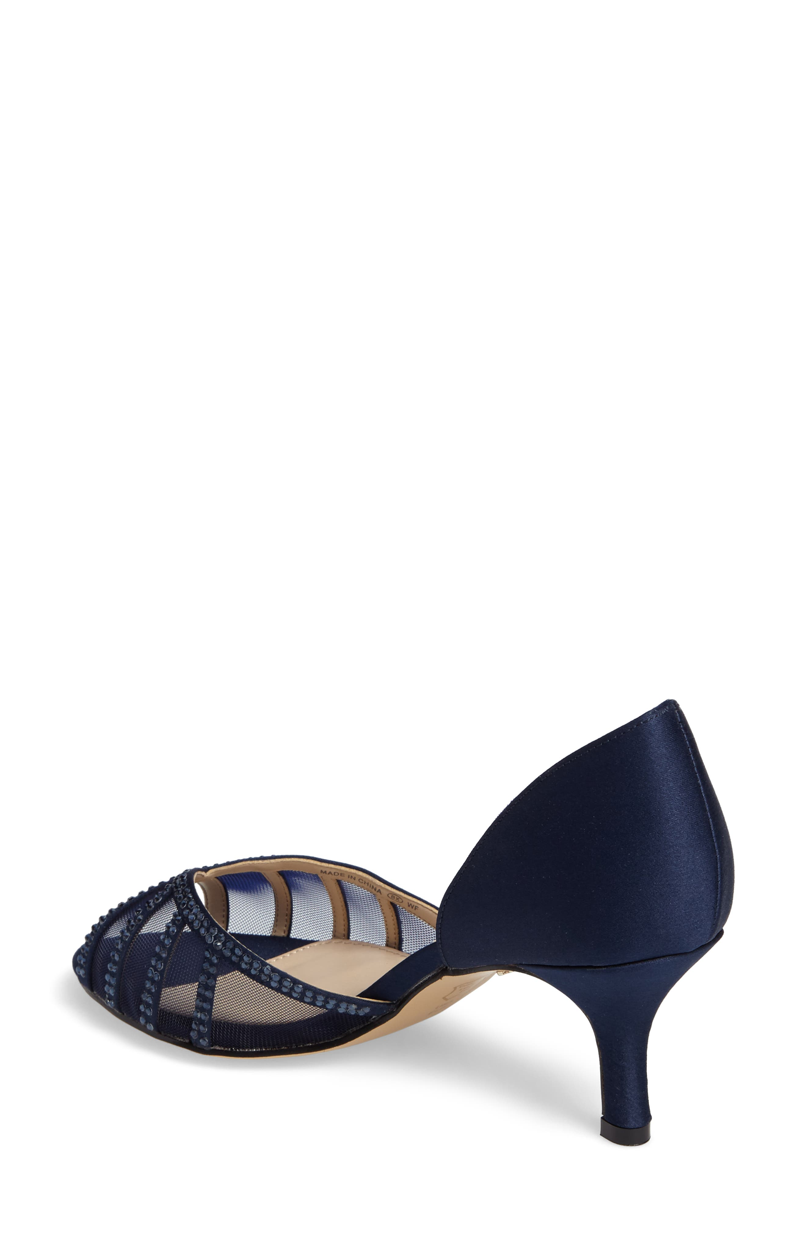 Corita Embellished Mesh Sandal,                             Alternate thumbnail 2, color,                             Blue Satin