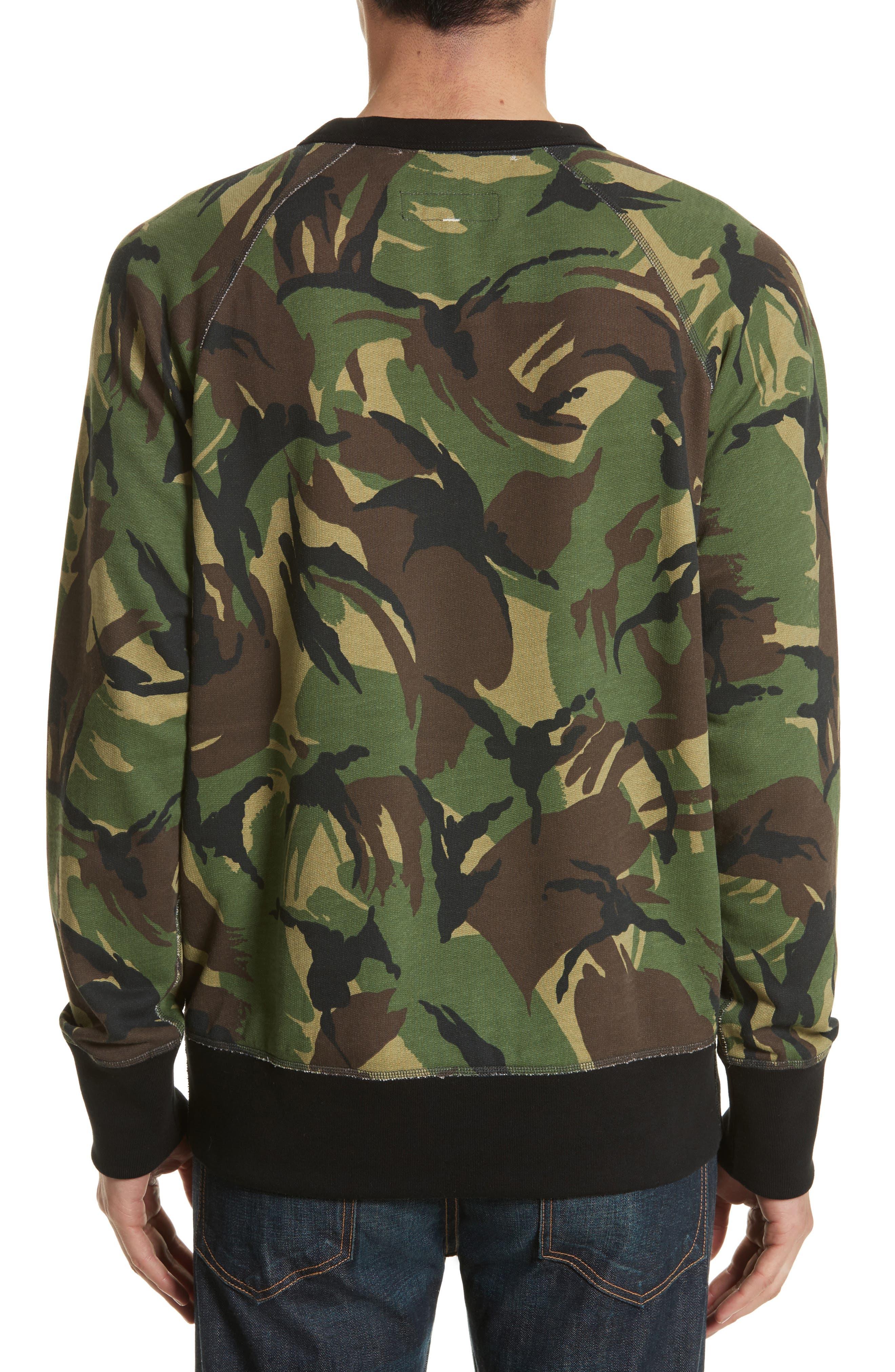 Alternate Image 2  - rag & bone Camo Sweatshirt