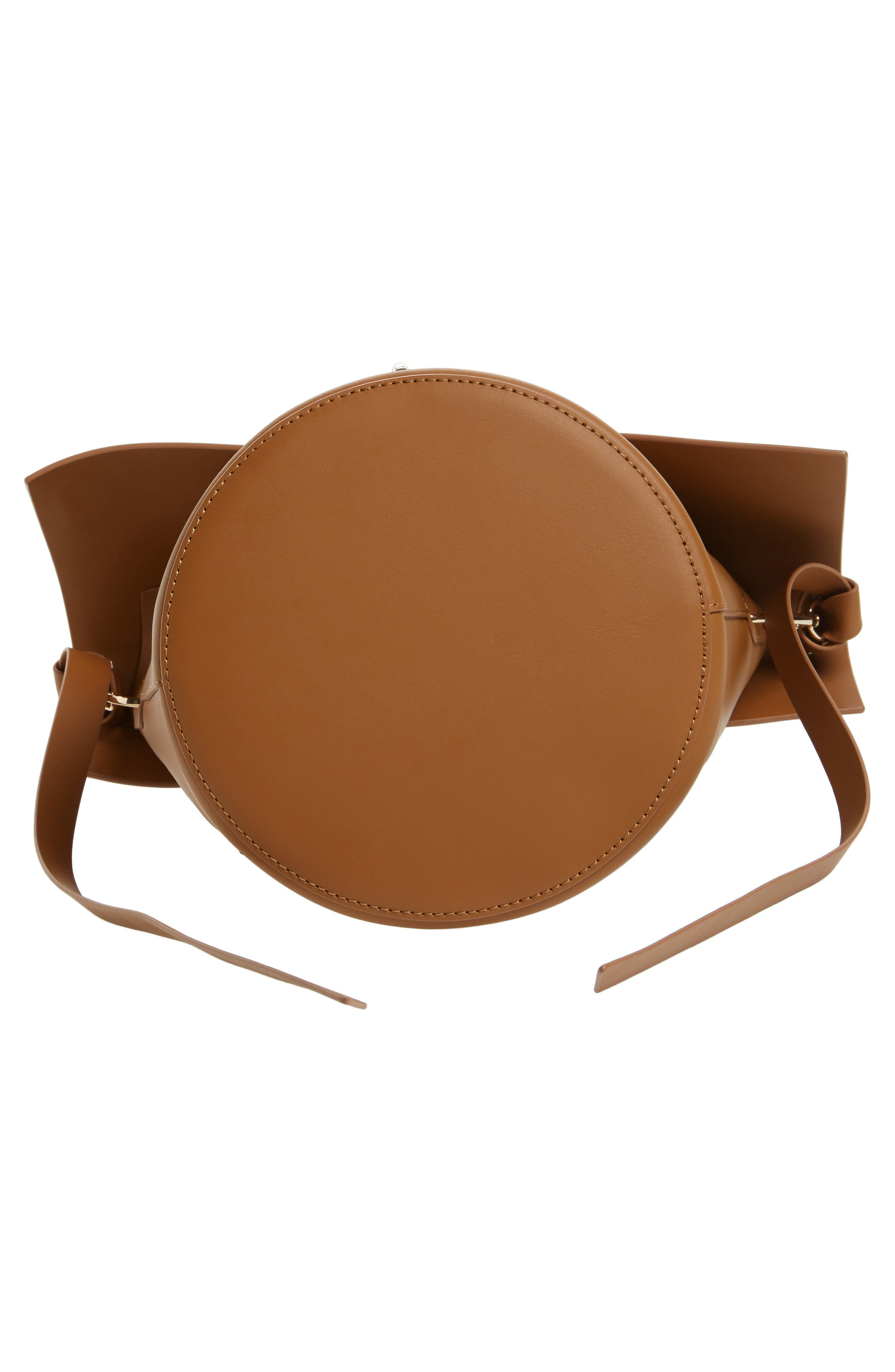 Belay Leather Bucket Bag,                             Alternate thumbnail 5, color,                             Camel