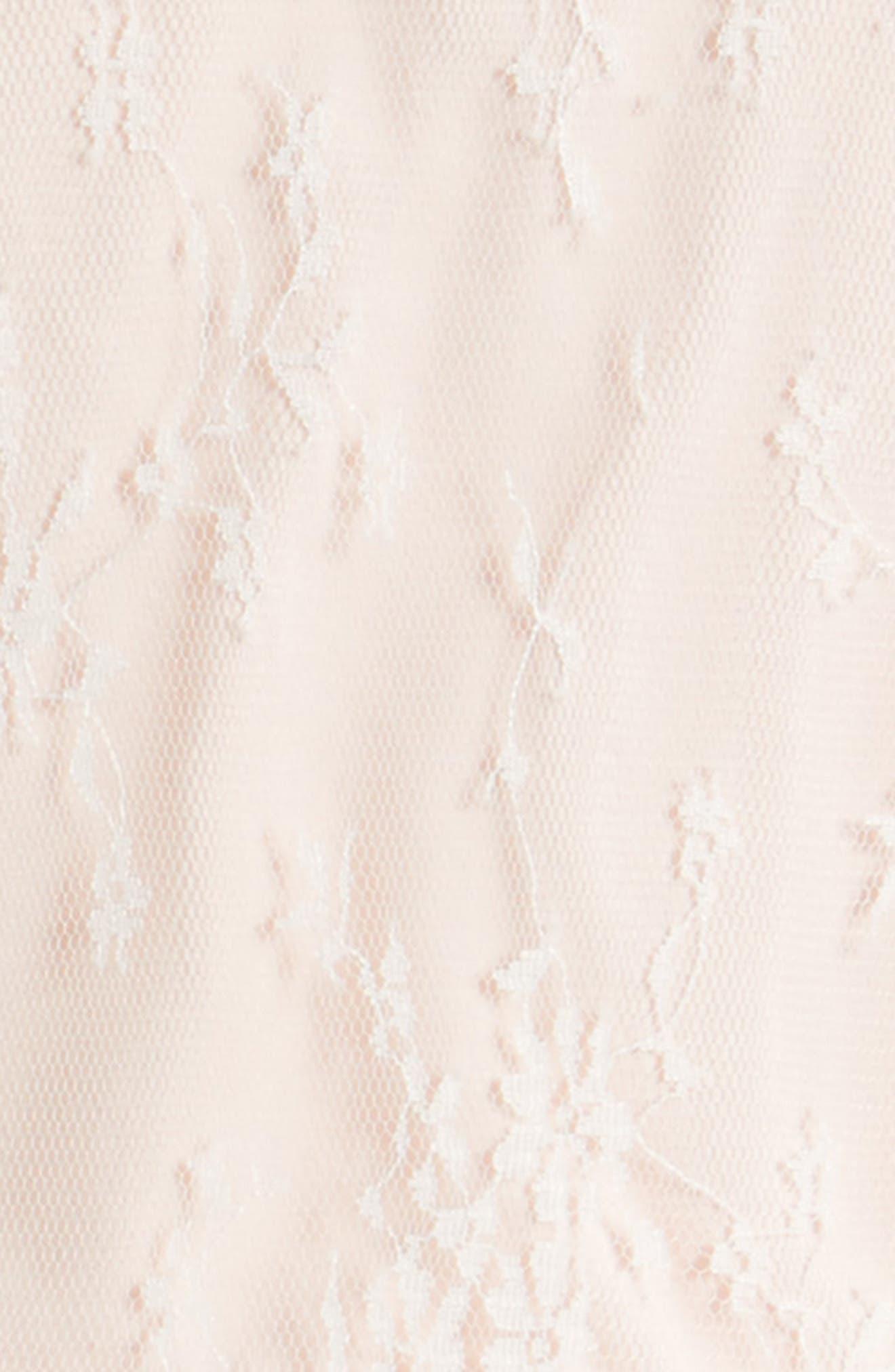 Lace Dress,                             Alternate thumbnail 3, color,                             Light Peach
