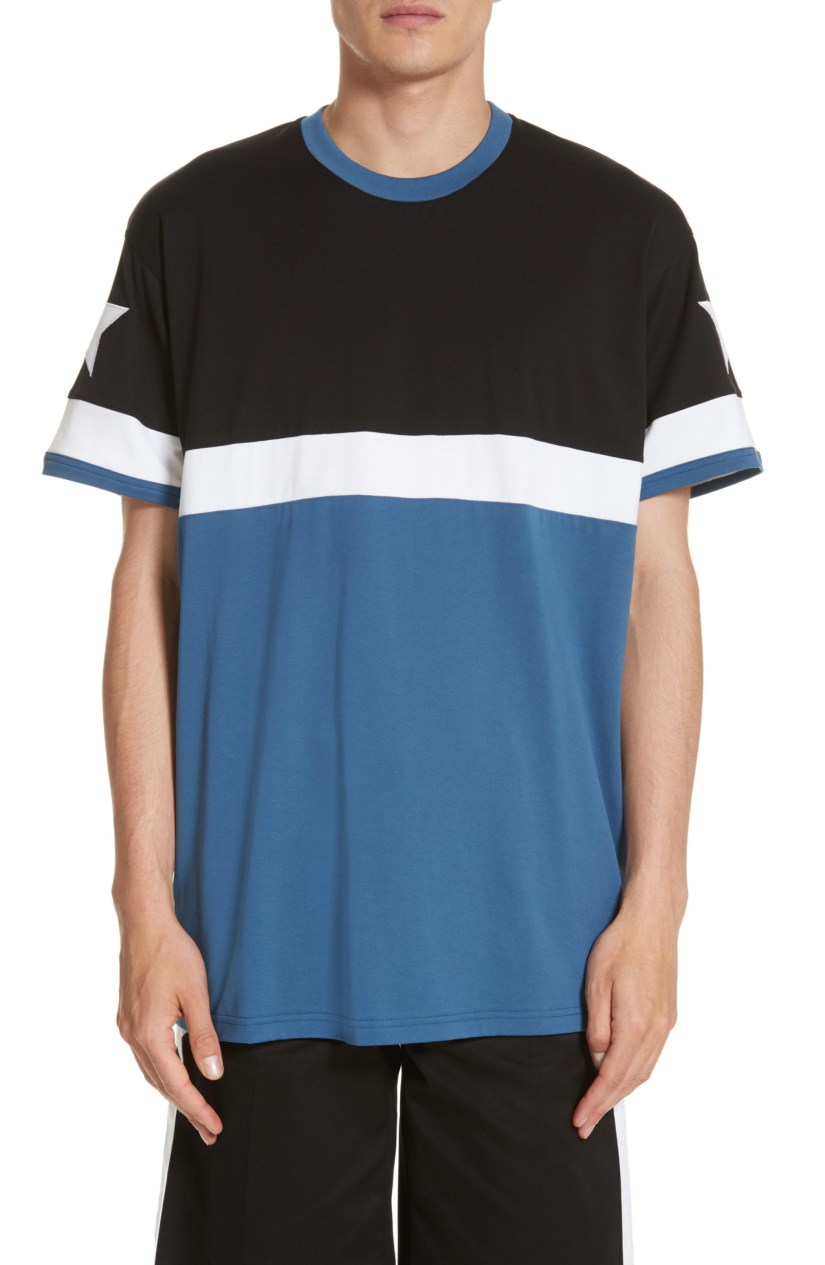 Columbian Fit Colorblock T-Shirt,                         Main,                         color, Blue