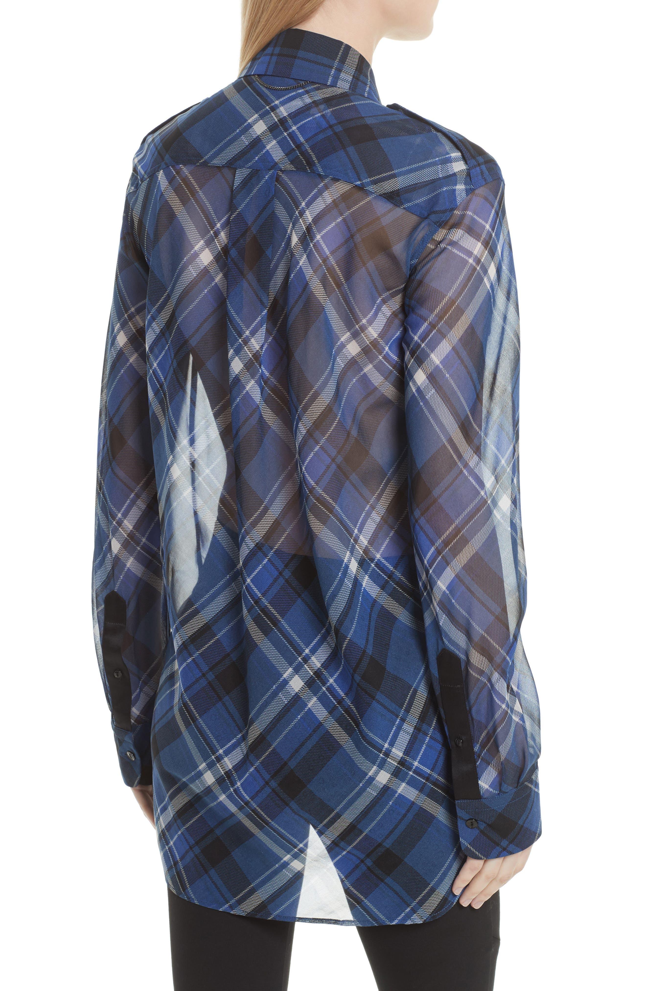 Alternate Image 2  - rag & bone Mason Plaid Stretch Silk Shirt