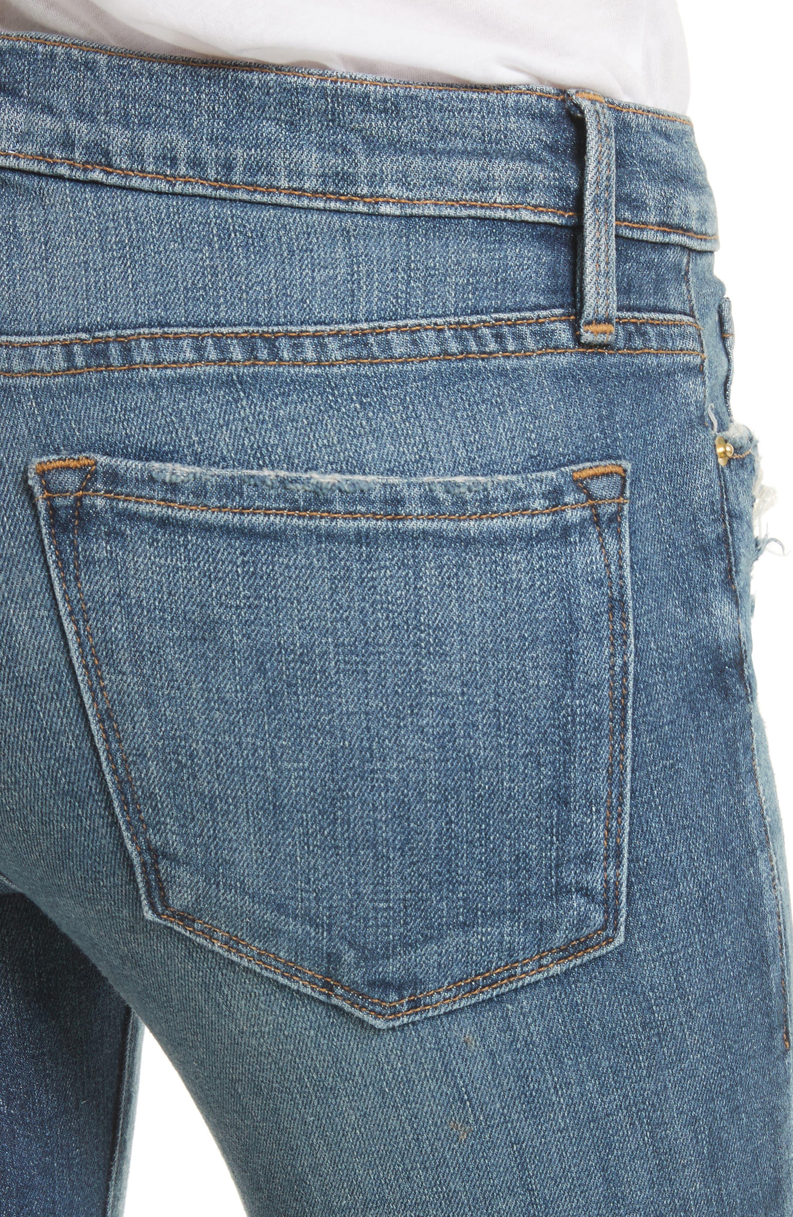 Alternate Image 5  - FRAME Le Skinny de Jeanne Crop Release Hem Jeans (Roberts) (Nordstrom Exclusive)