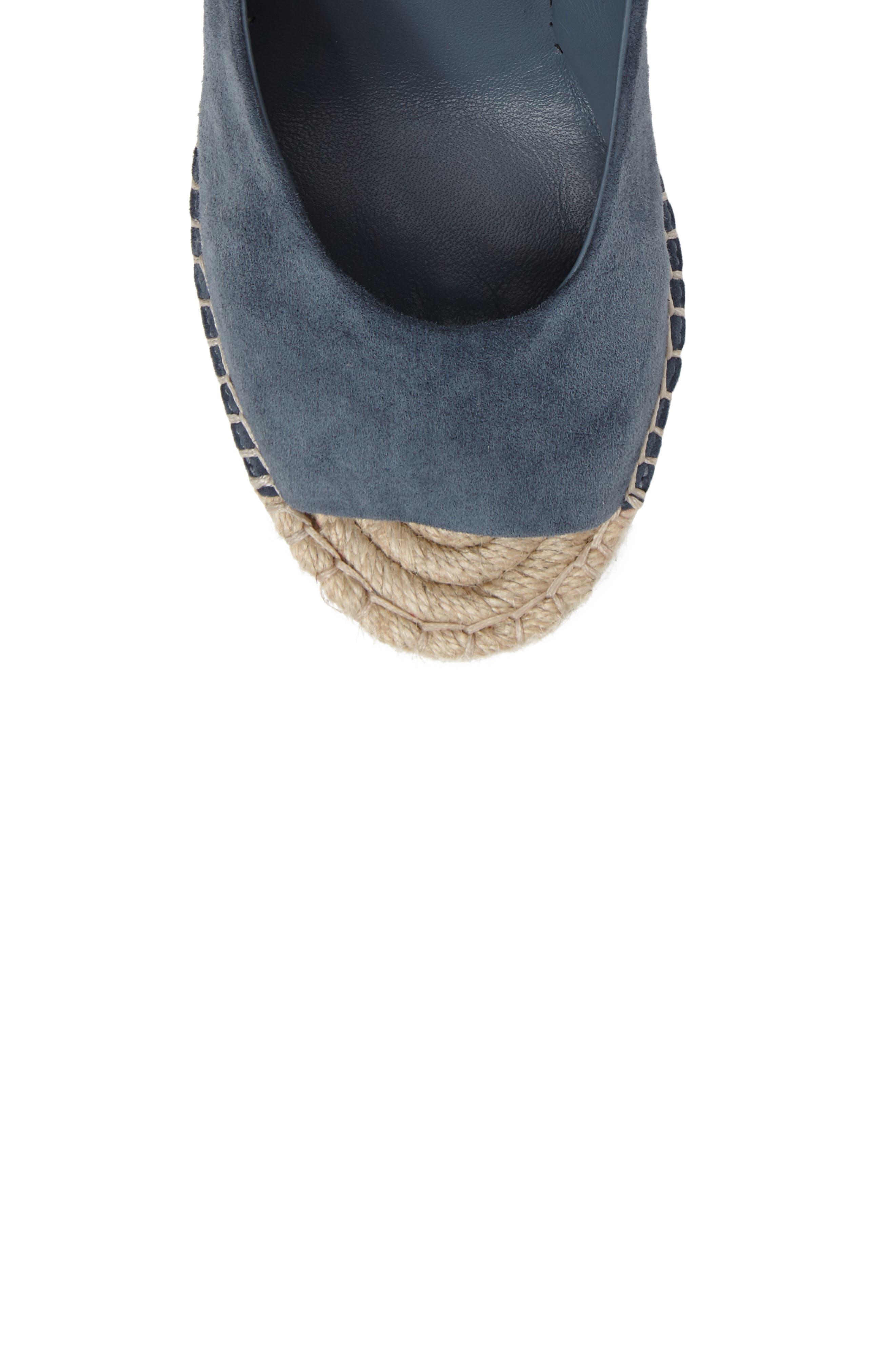 Kael Wedge Sandal,                             Alternate thumbnail 6, color,                             Santorini