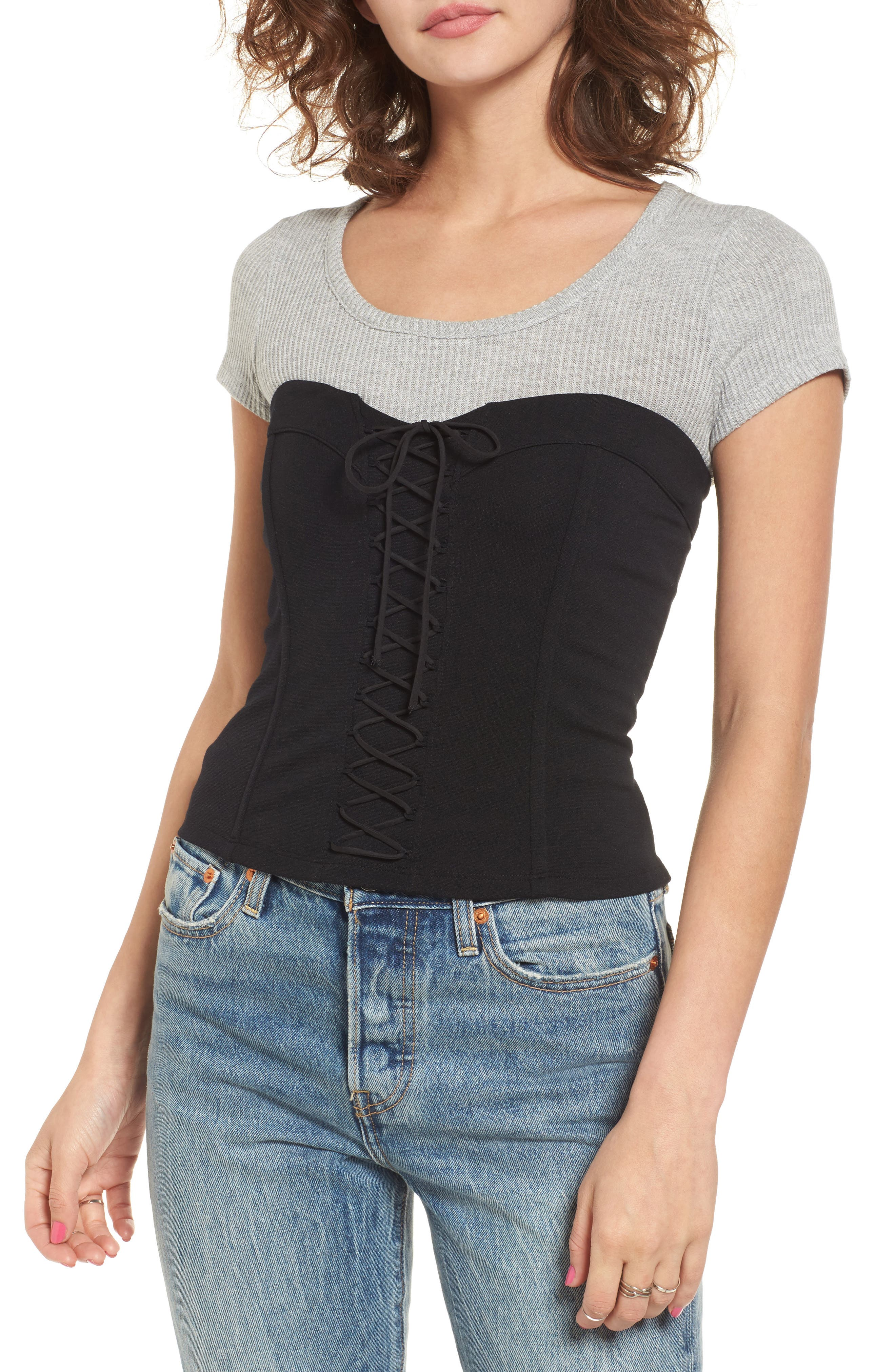 Main Image - Leith Lace Up Bustier