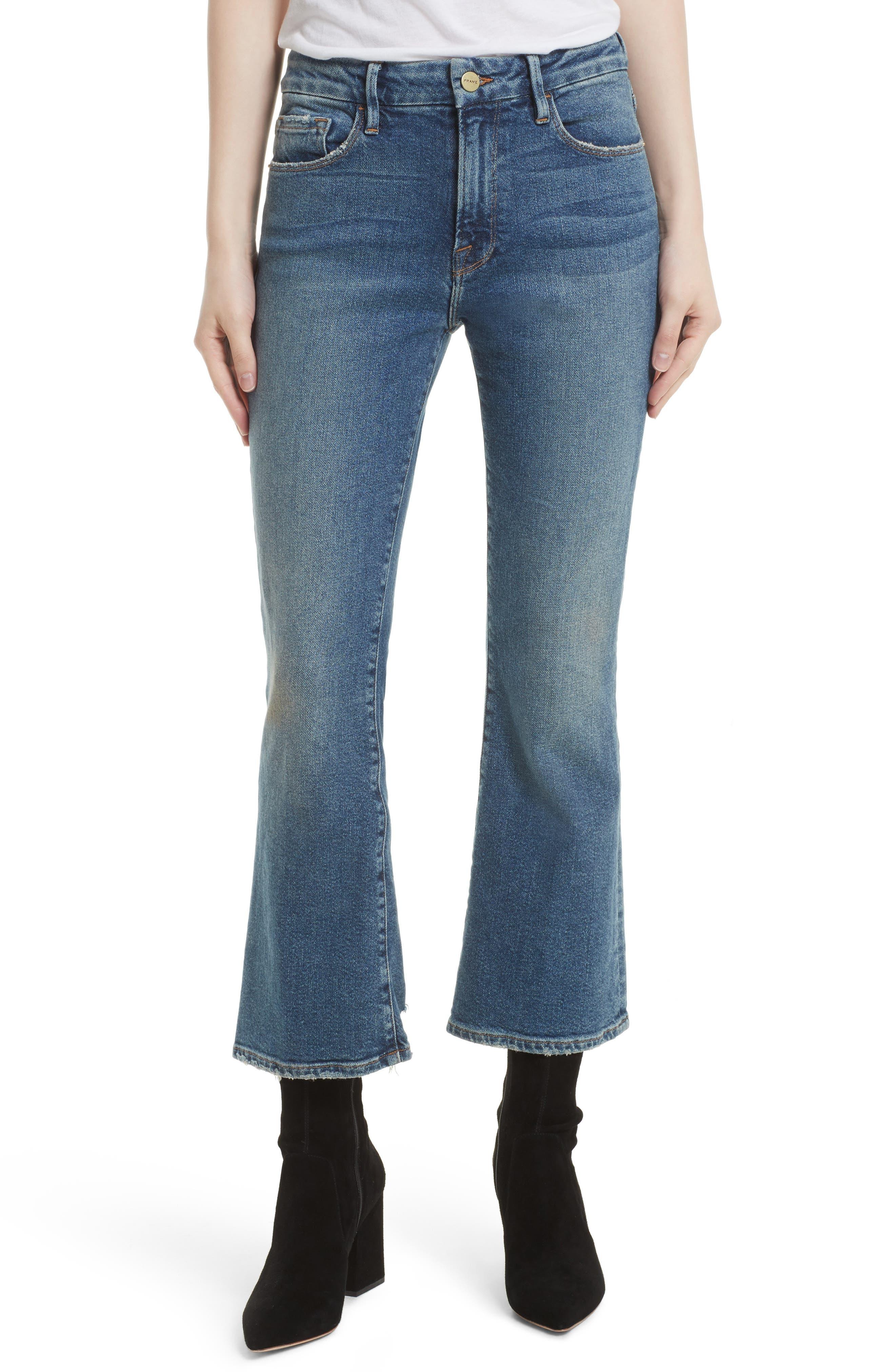 FRAME Crop Mini Boot Jeans (Elmont Ridge)