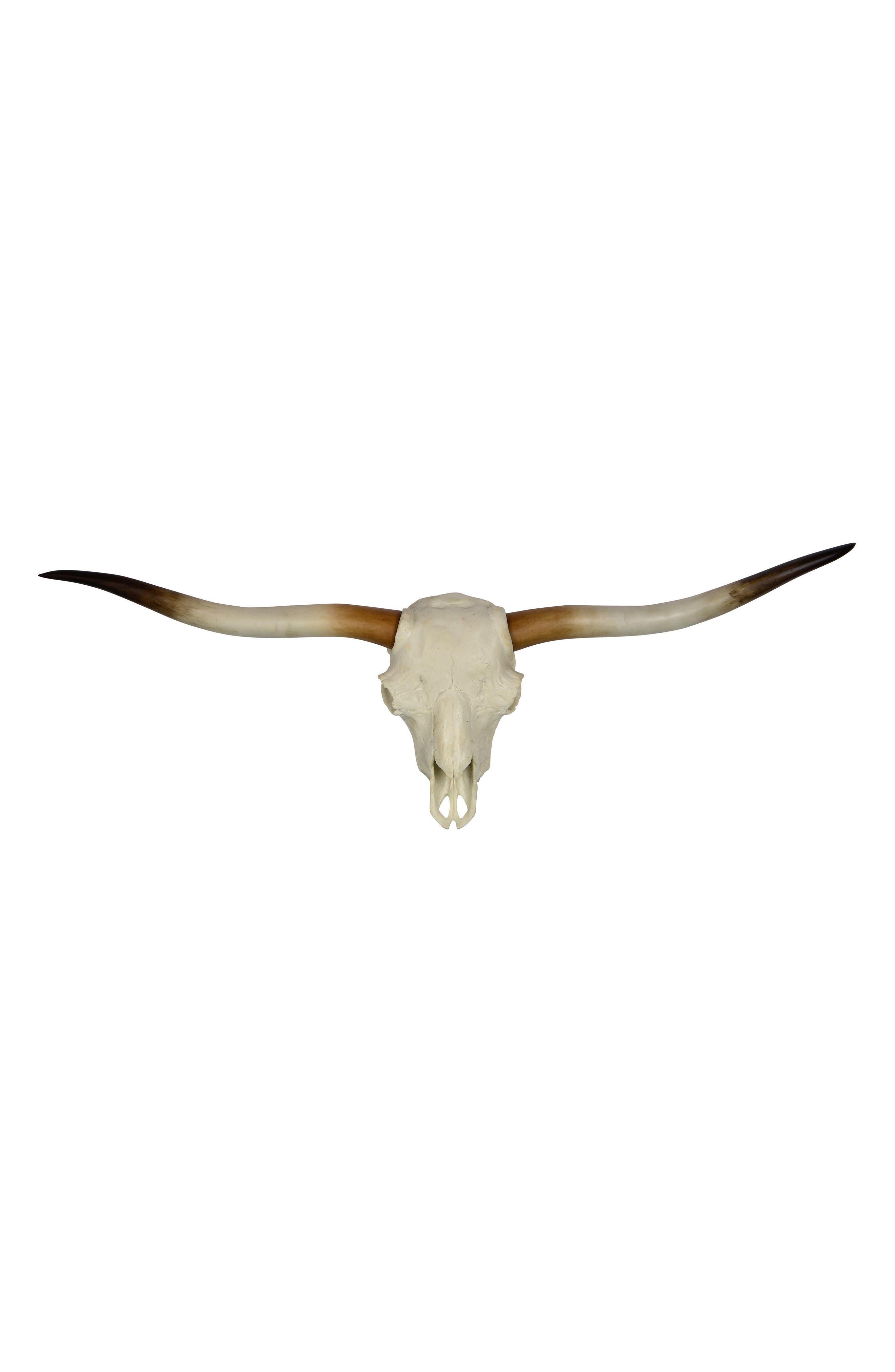 Main Image - Renwil Resin Longhorn Skull Wall Ornament