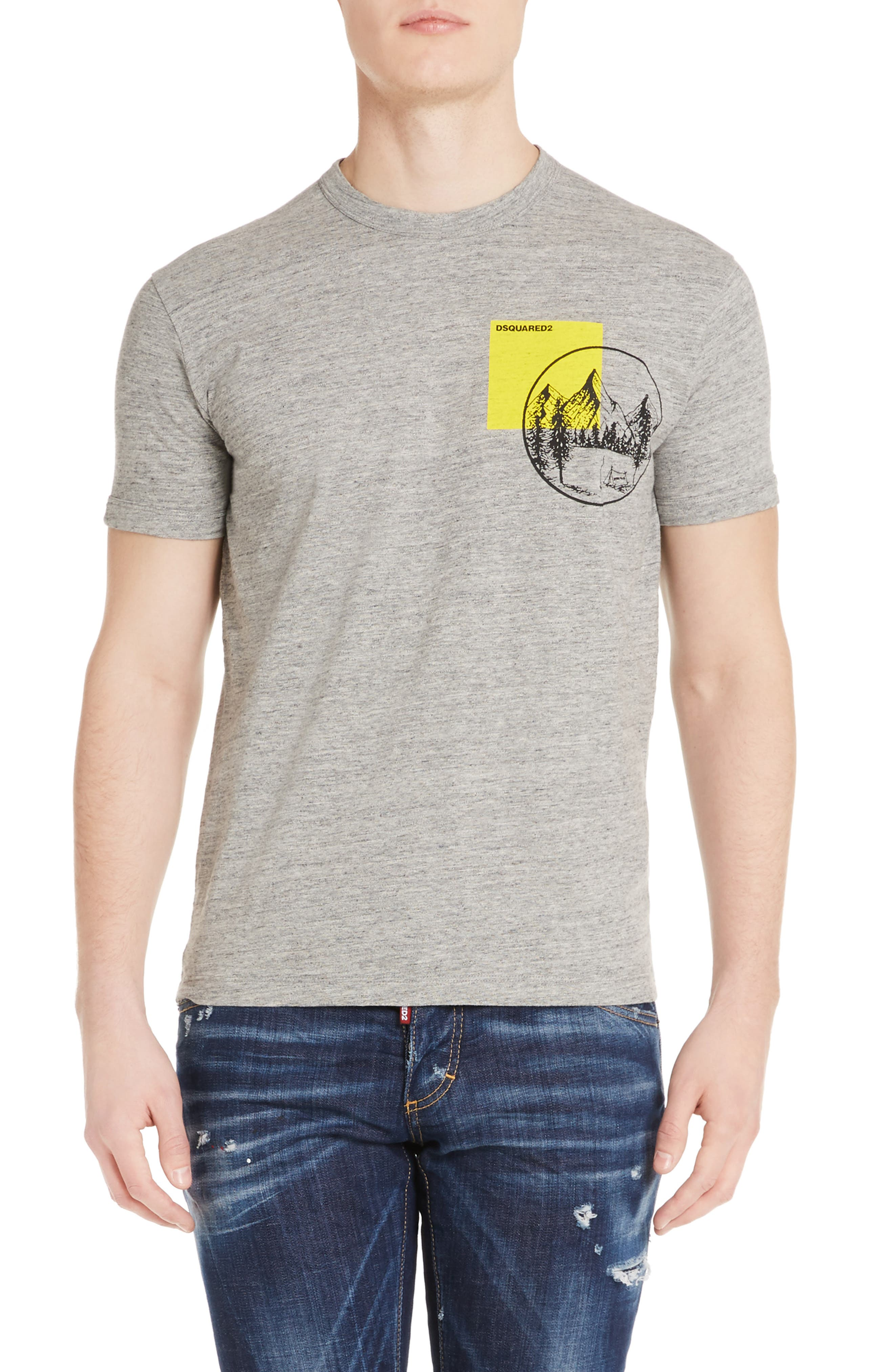 Mountain Chest T-Shirt,                         Main,                         color, Dark Grey