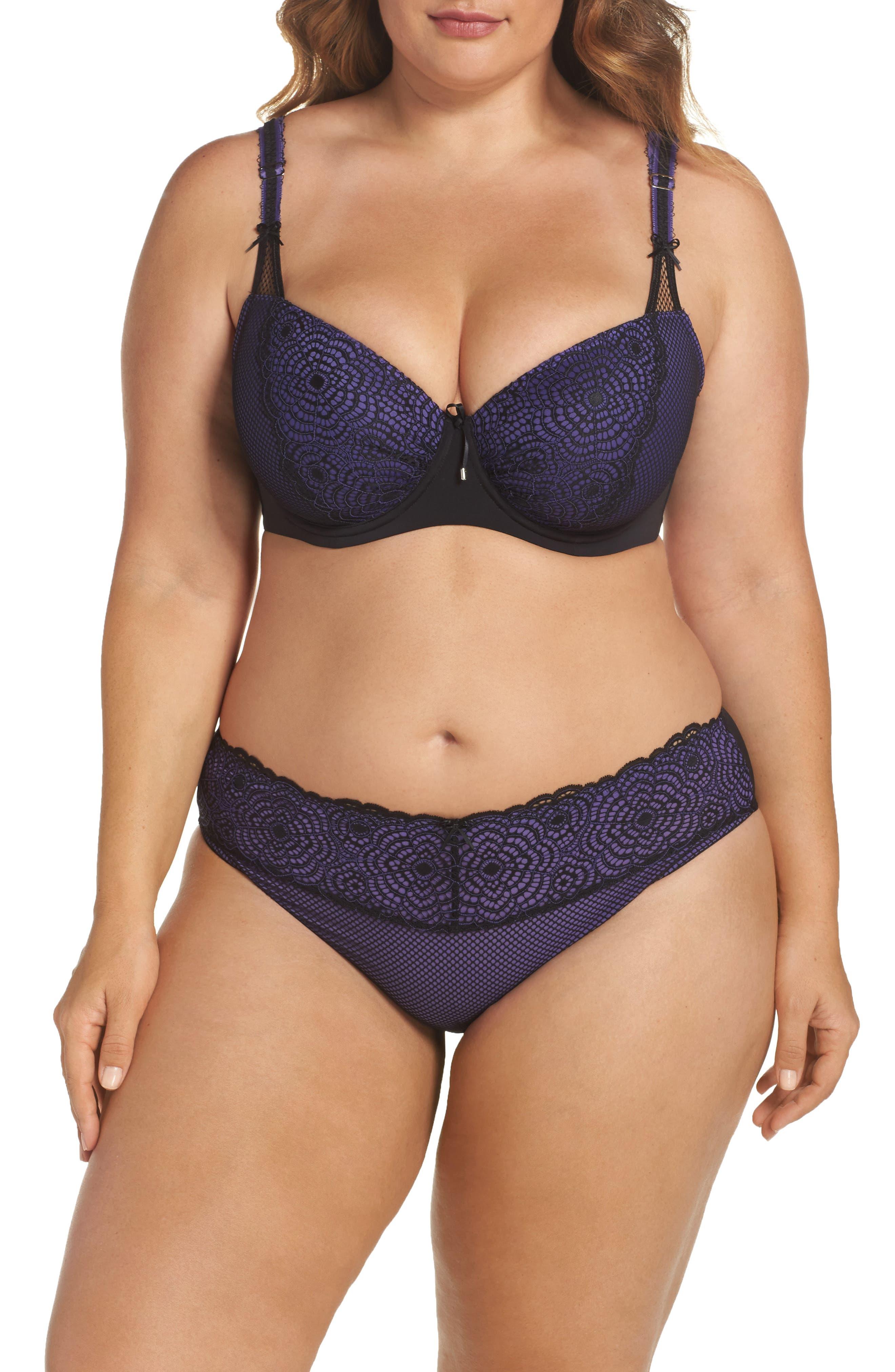 Ashley Graham Bra & Panties (Plus Size)