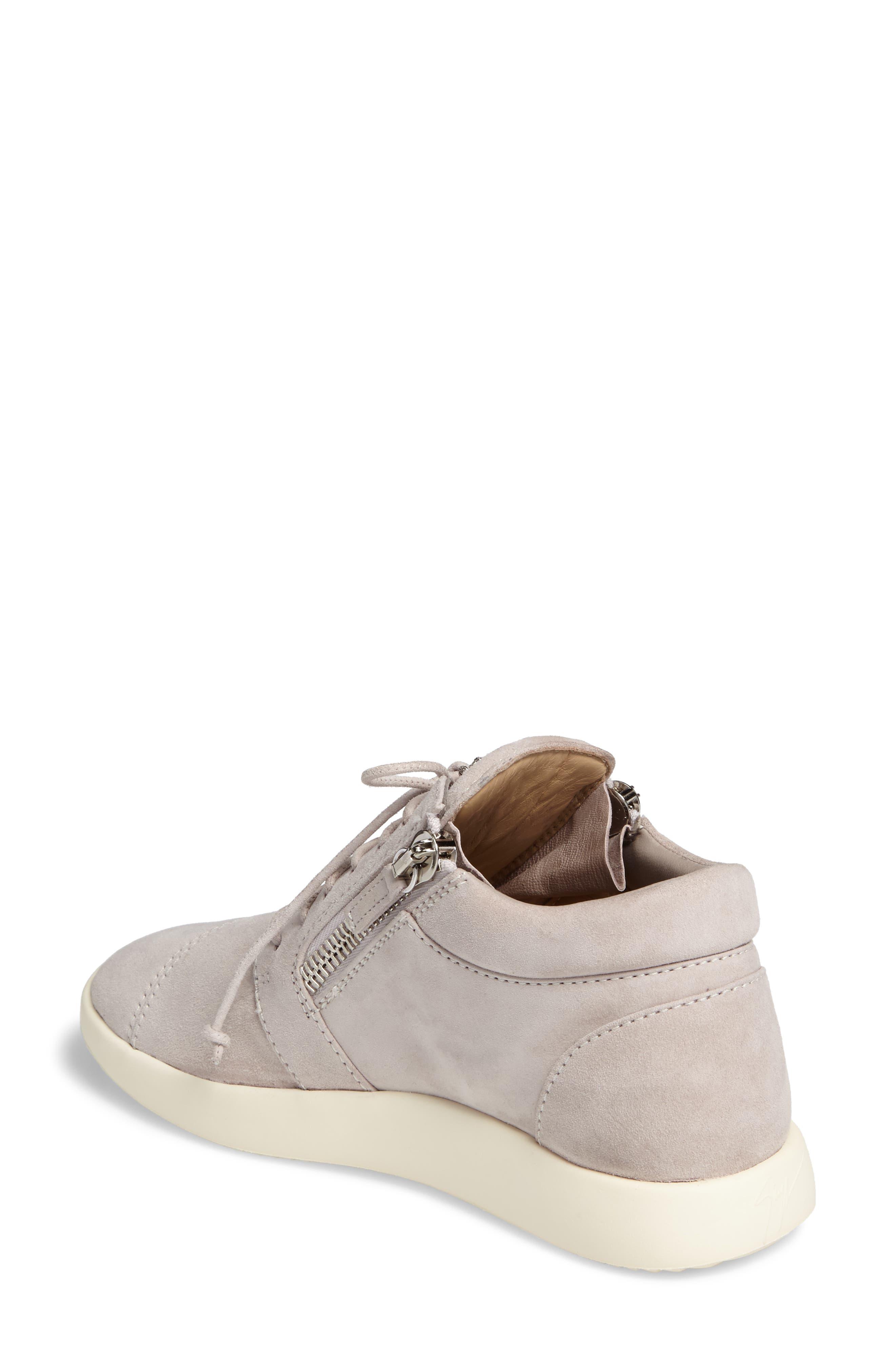 Zip Mid-Top Sneaker,                             Alternate thumbnail 2, color,                             Grey
