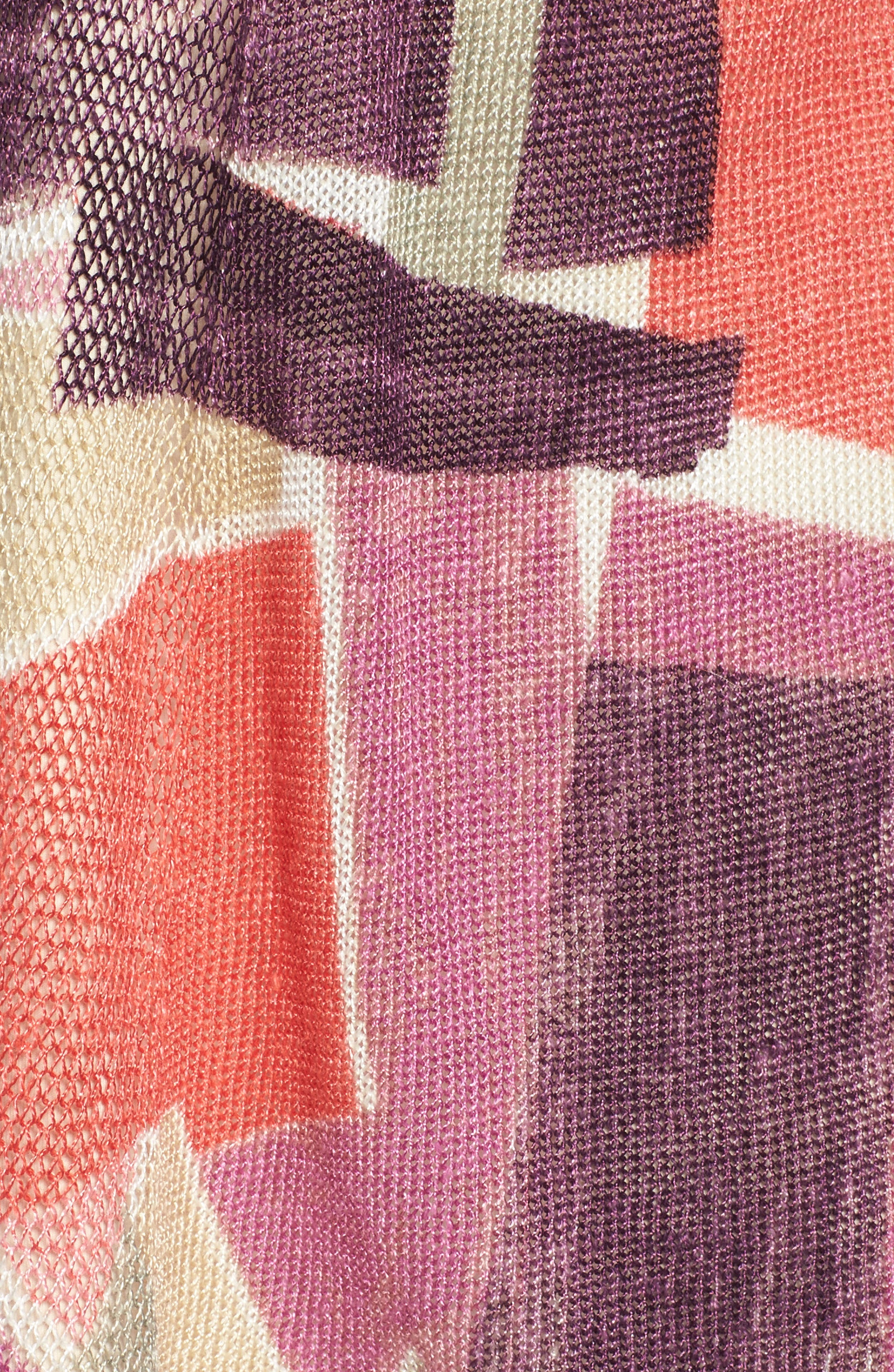 Bold Blocked Drape Front Cardigan,                             Alternate thumbnail 5, color,                             Multi