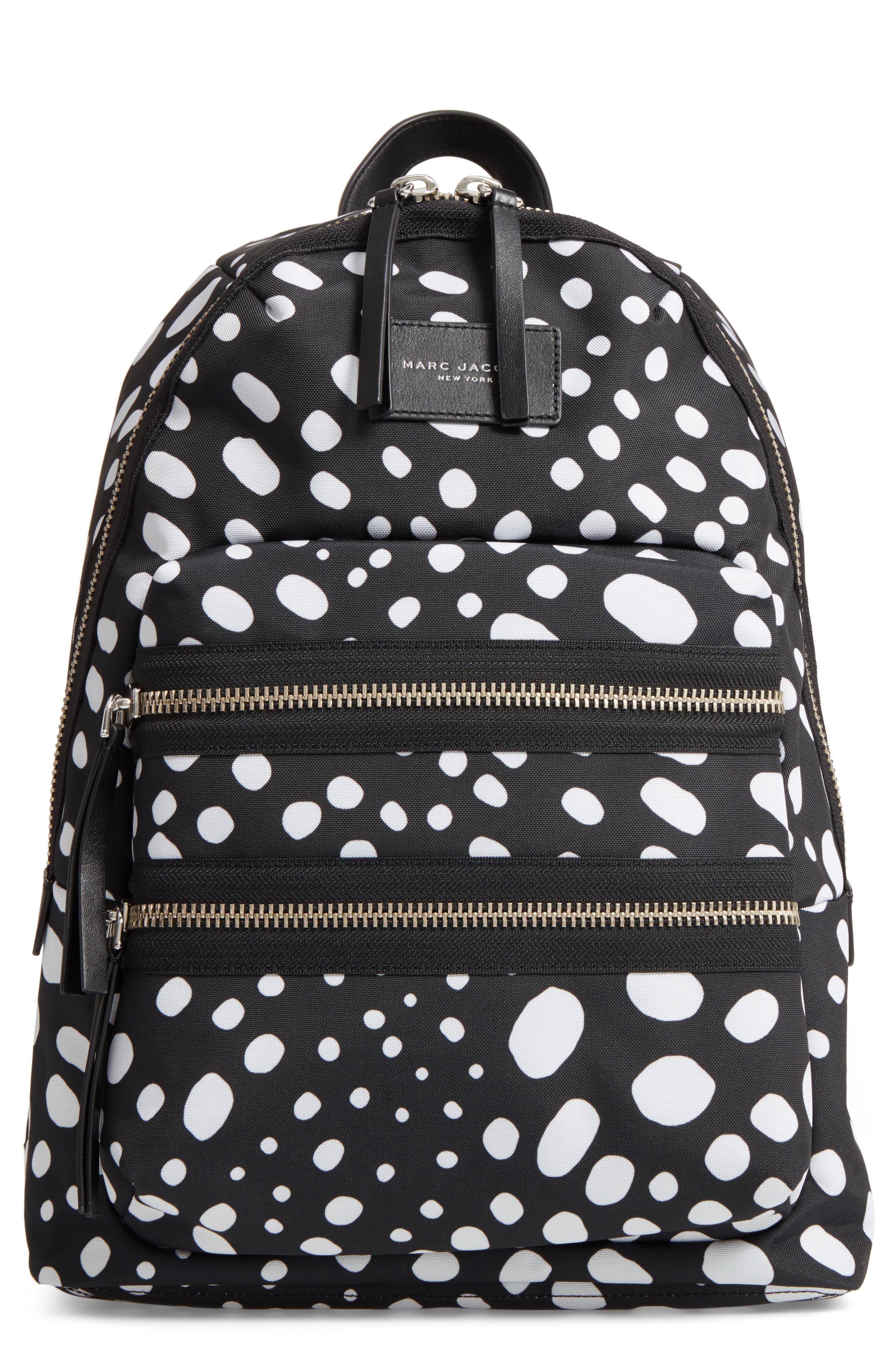 MARC JACOBS Biker - Wavy Spot Backpack