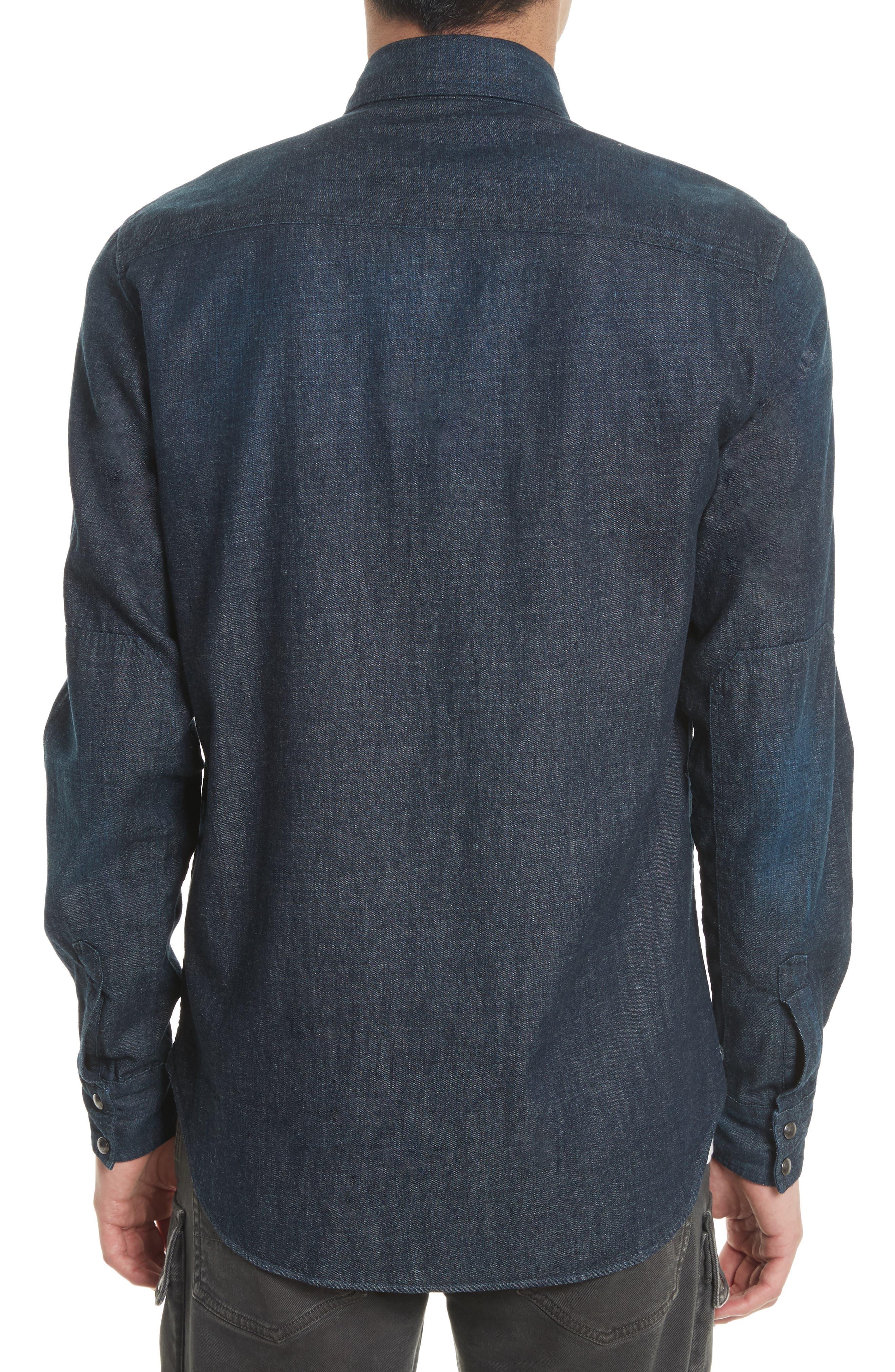 Somerford Denim Sport Shirt,                             Alternate thumbnail 2, color,                             Dark Blue