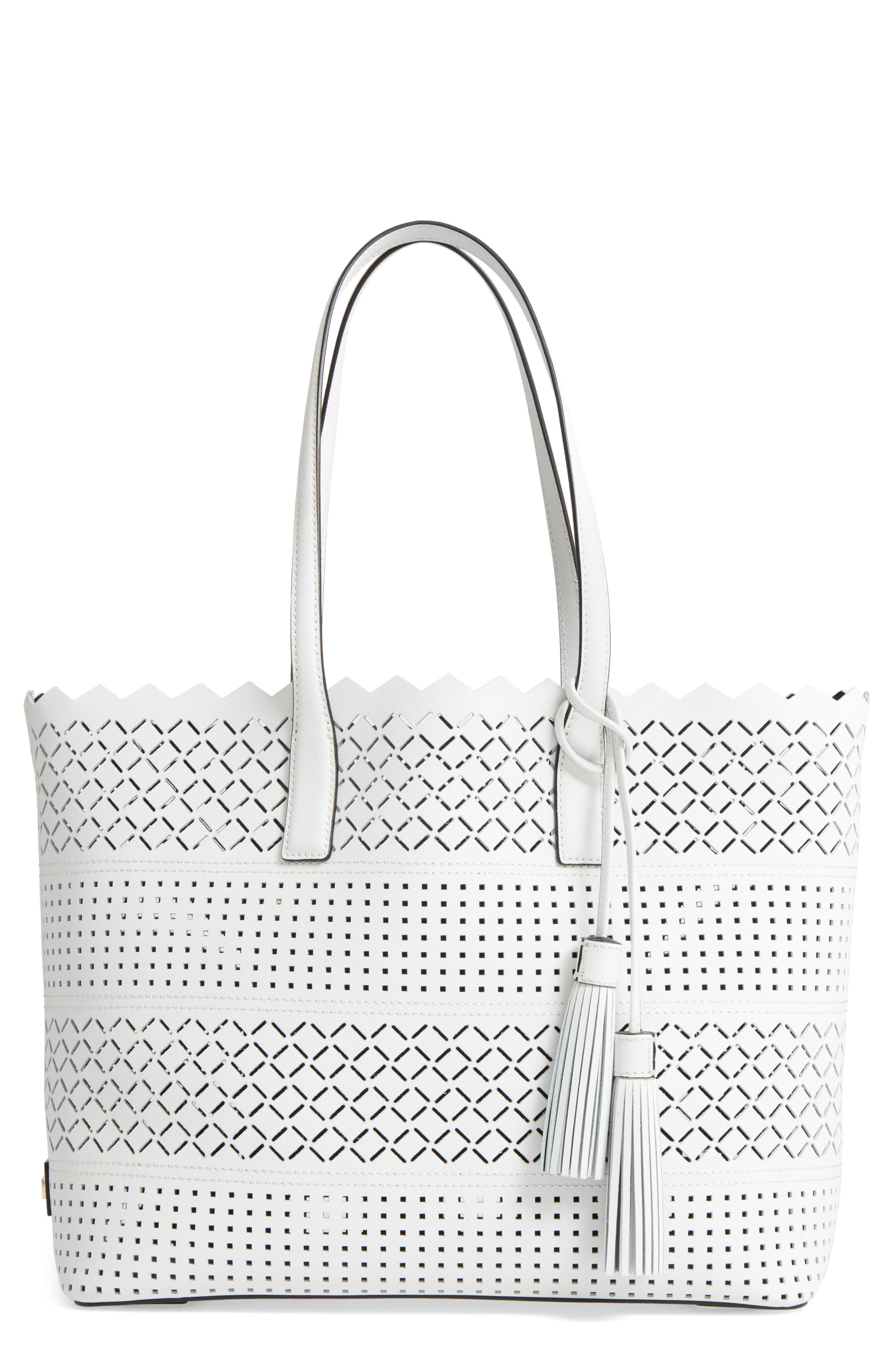 MILLY Laser Perforated Leather Tote