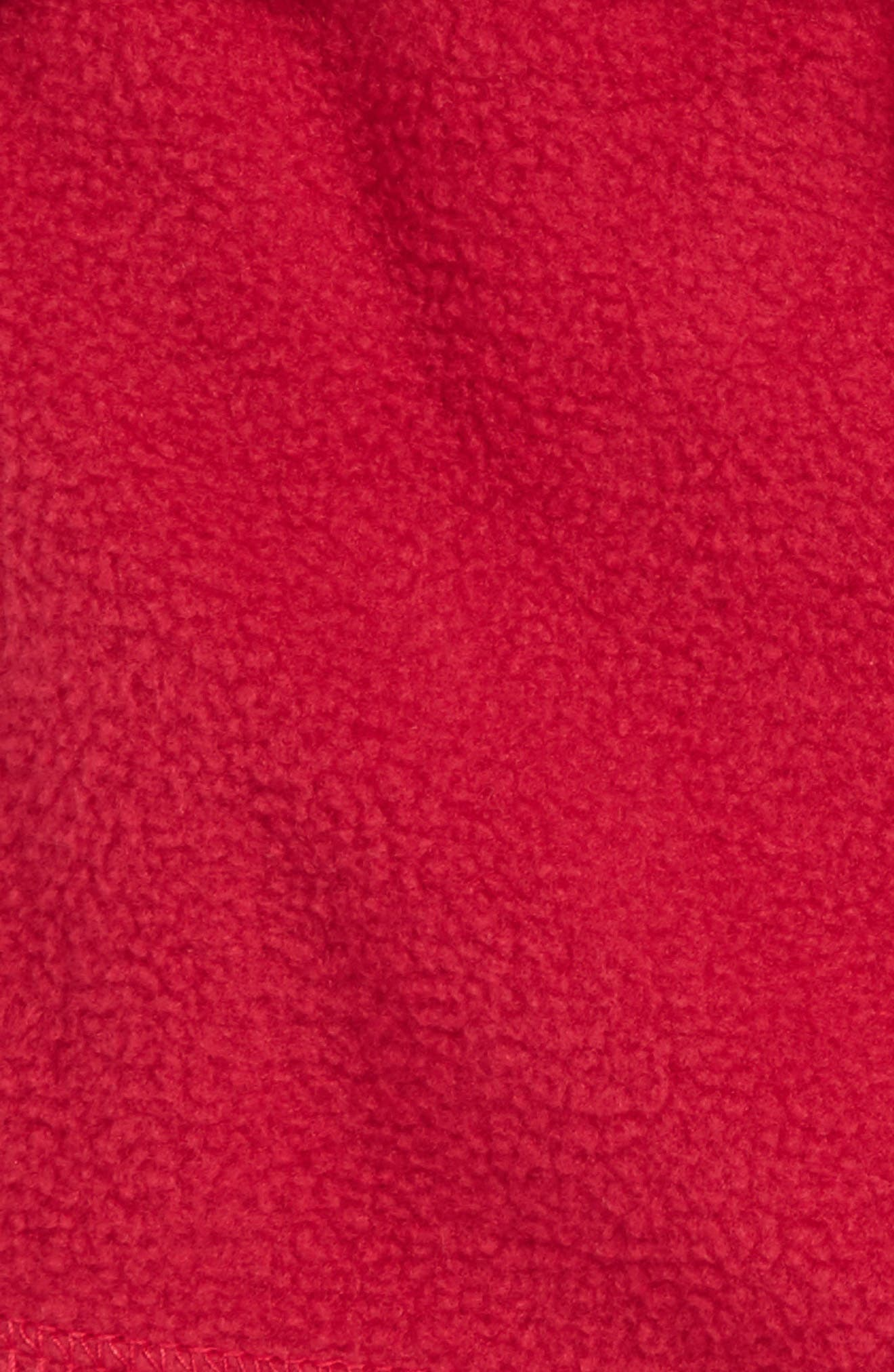 Knit Collar Fleece Boot Socks,                             Alternate thumbnail 3, color,                             Raspberry