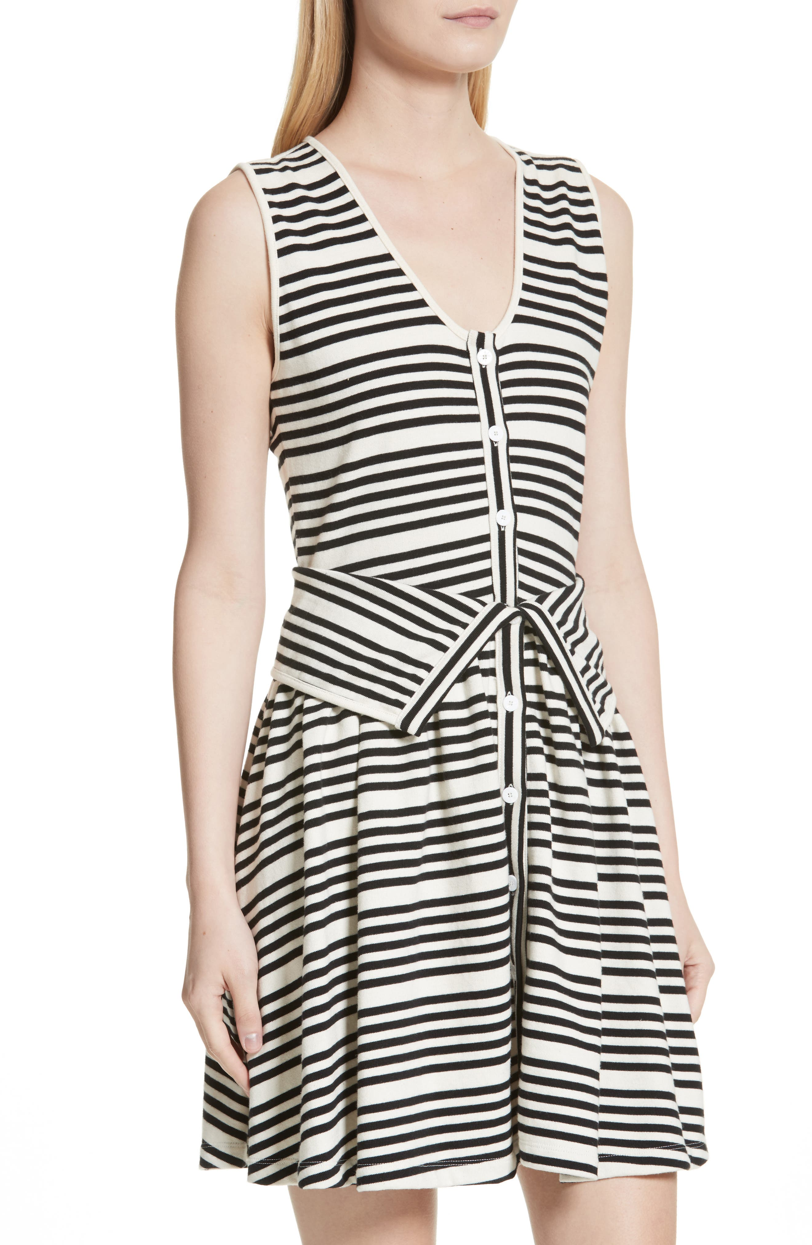 Alternate Image 4  - Opening Ceremony Stripe Button Front Dress