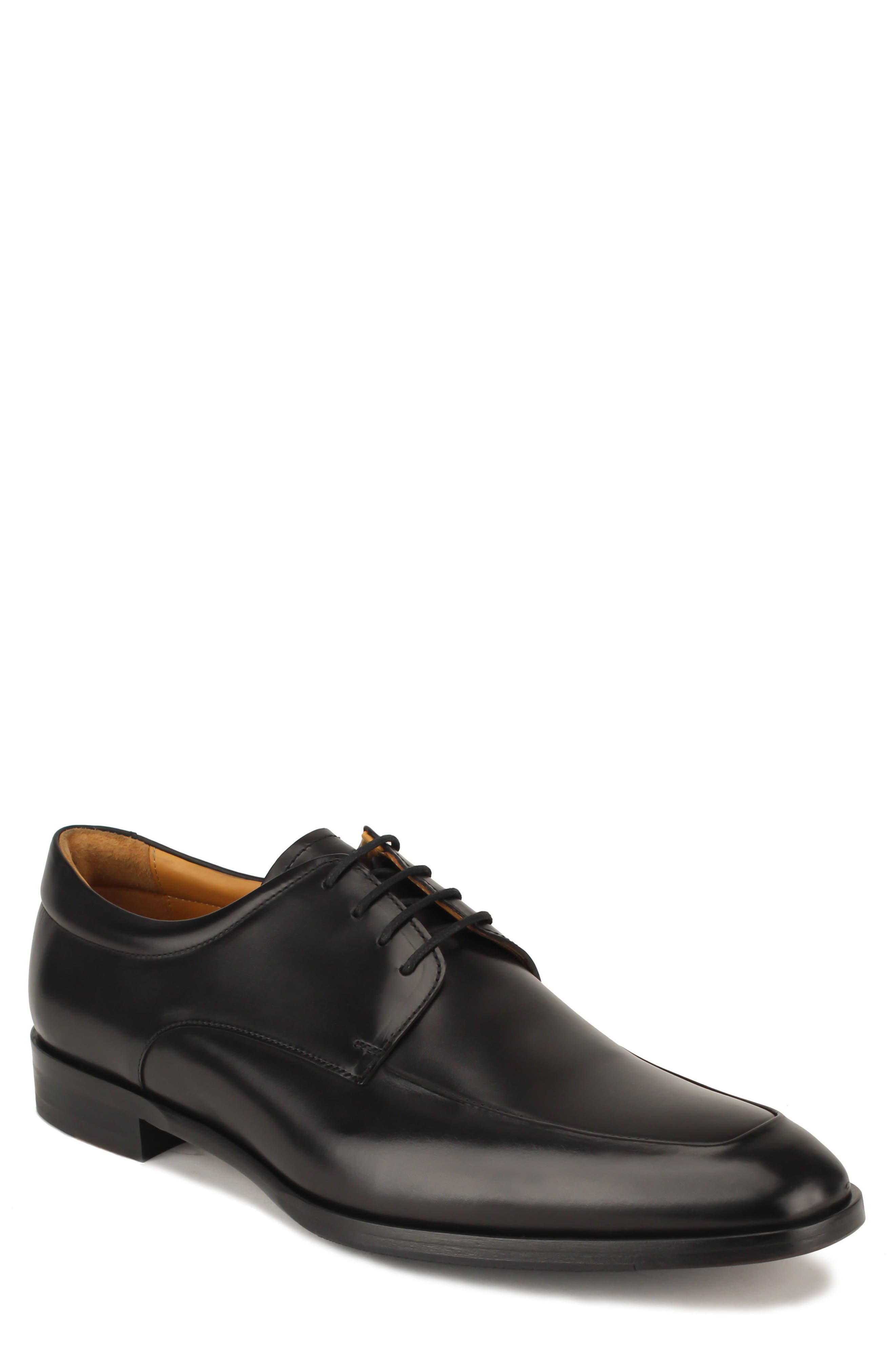 Reading II Apron Toe Derby,                         Main,                         color, Black Leather