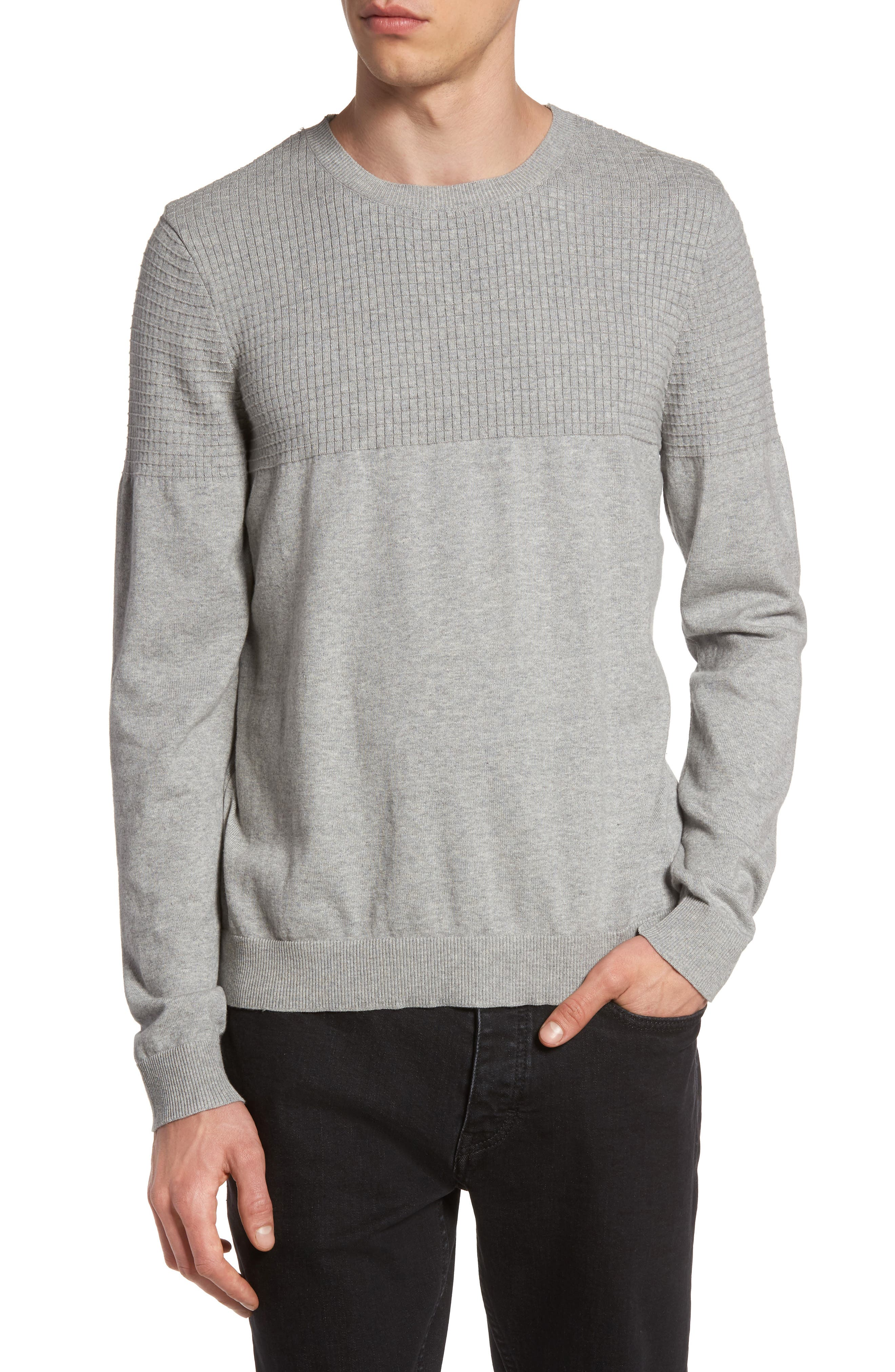 Textured Sweater,                             Main thumbnail 1, color,                             Grey