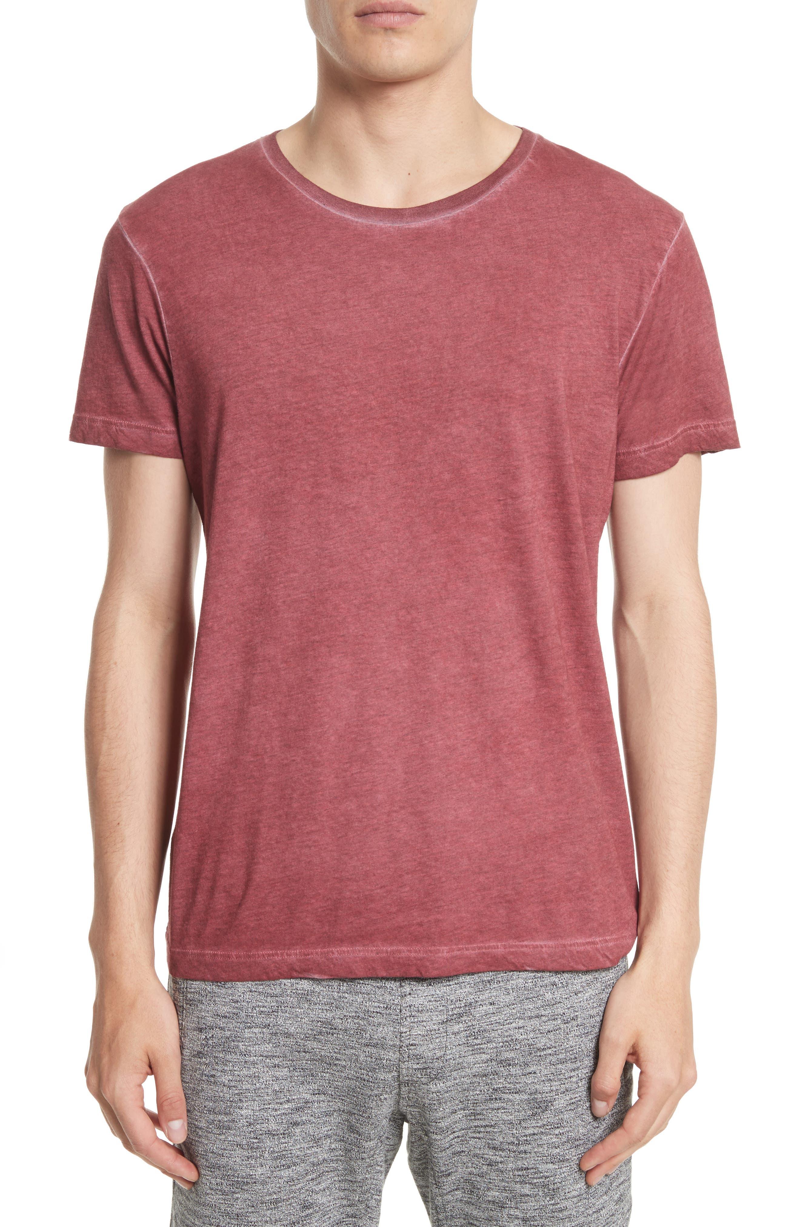 'Trafford' Cotton Crewneck T-Shirt,                         Main,                         color, Cardinal Red