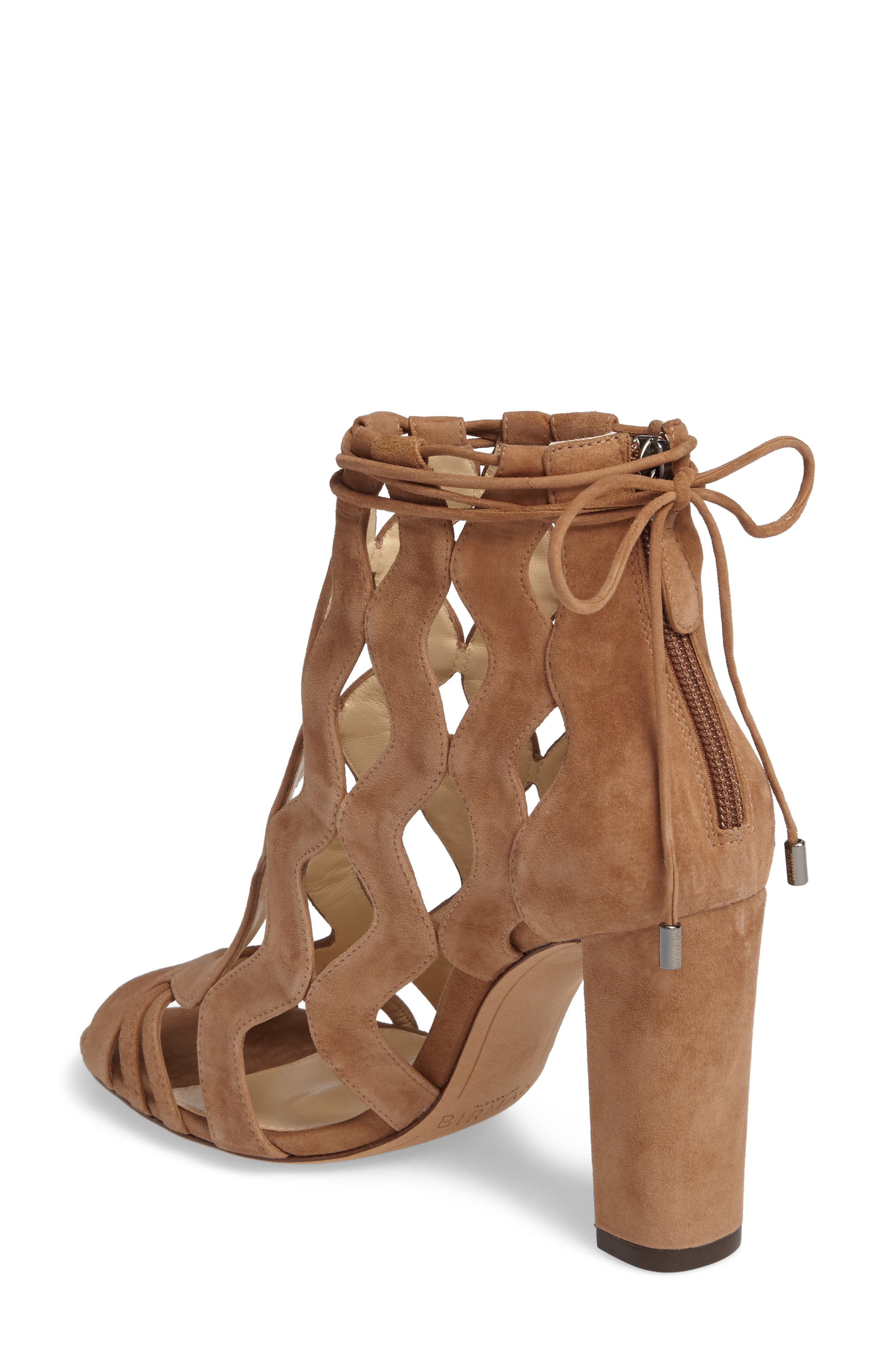 Loretta Cage Bootie,                             Alternate thumbnail 2, color,                             Light Beige