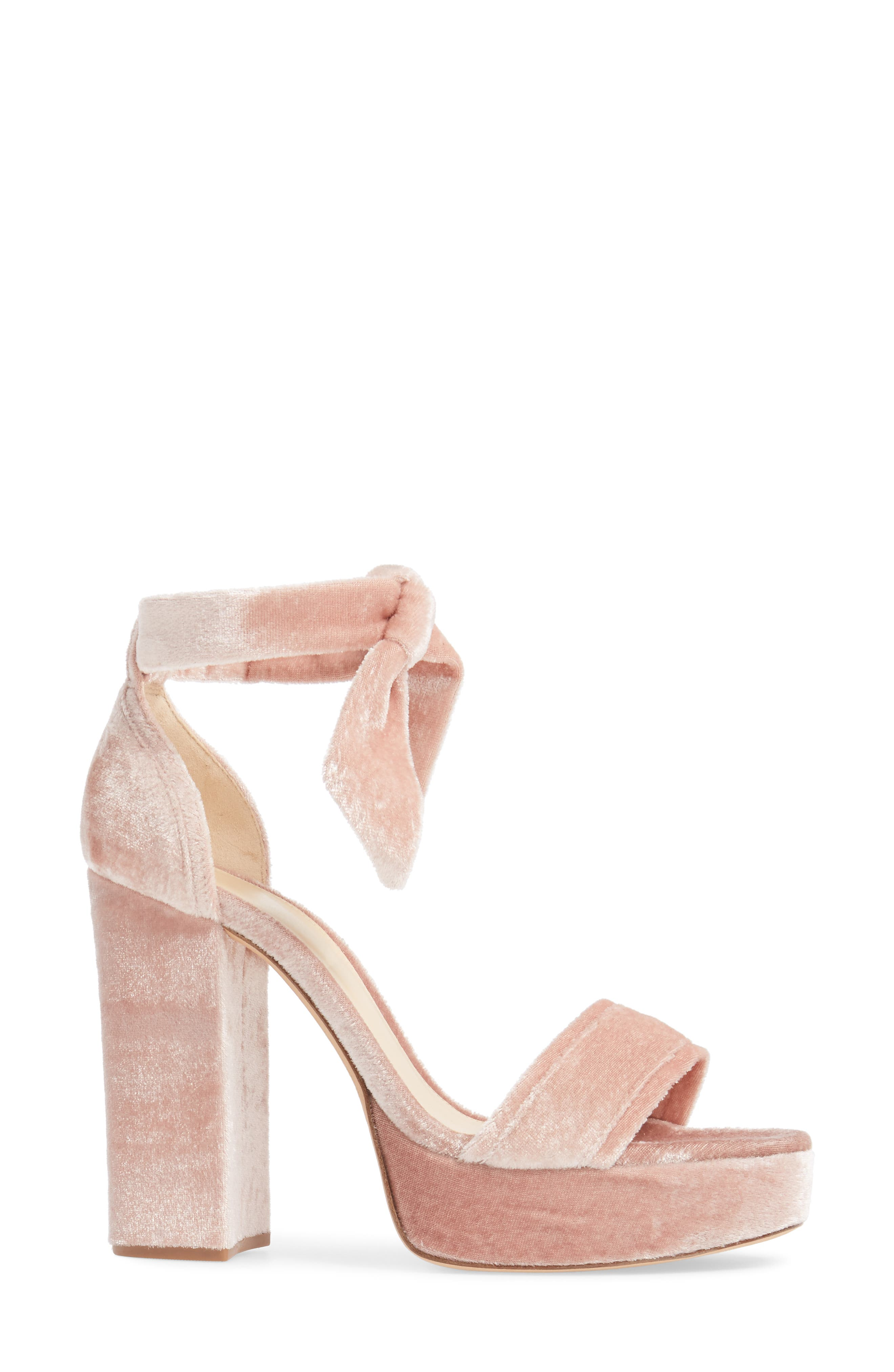 Celine Platform Sandal,                             Alternate thumbnail 3, color,                             Blush