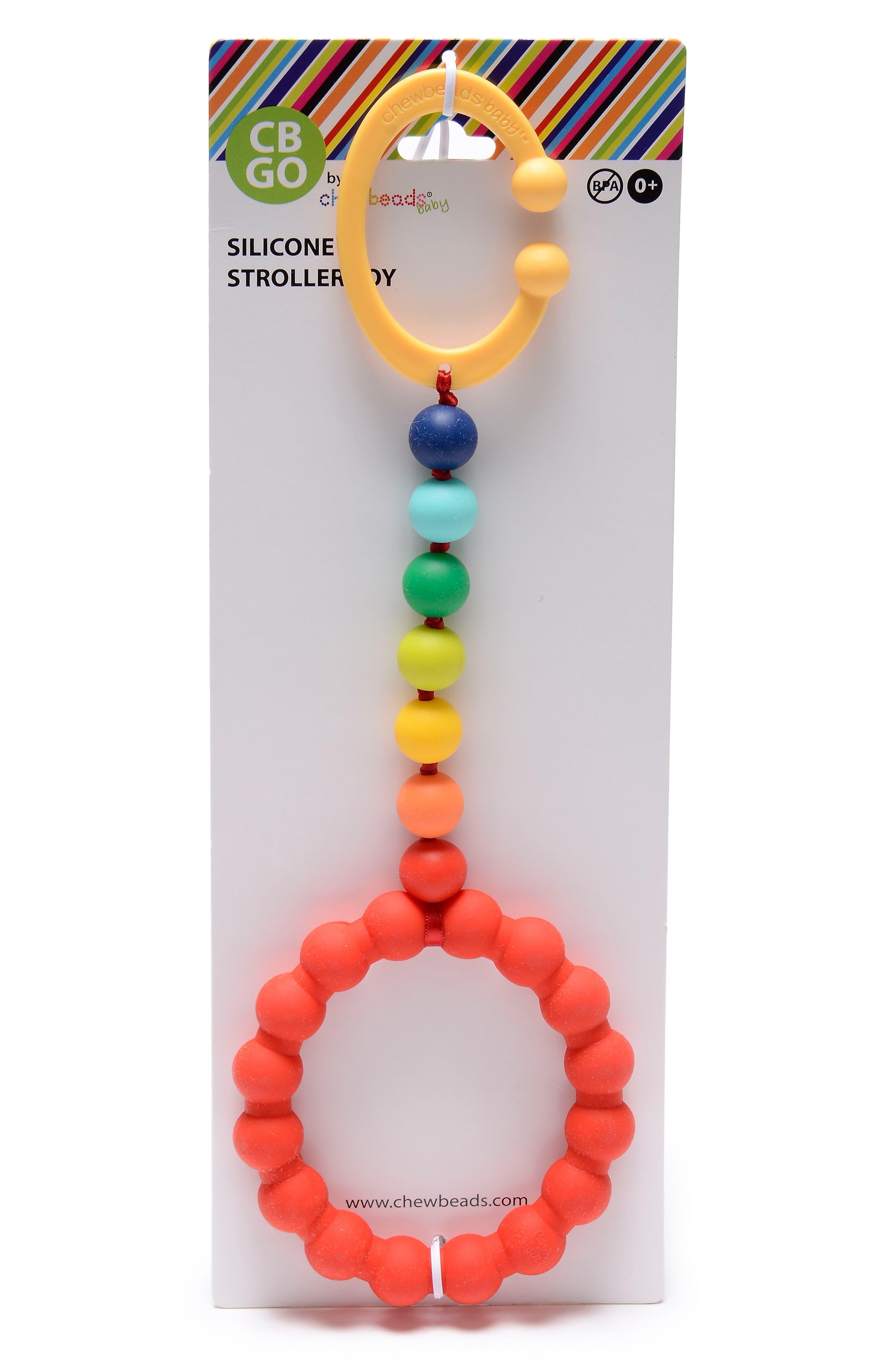 'Gramercy' Stroller Teether,                             Alternate thumbnail 2, color,                             Rainbow